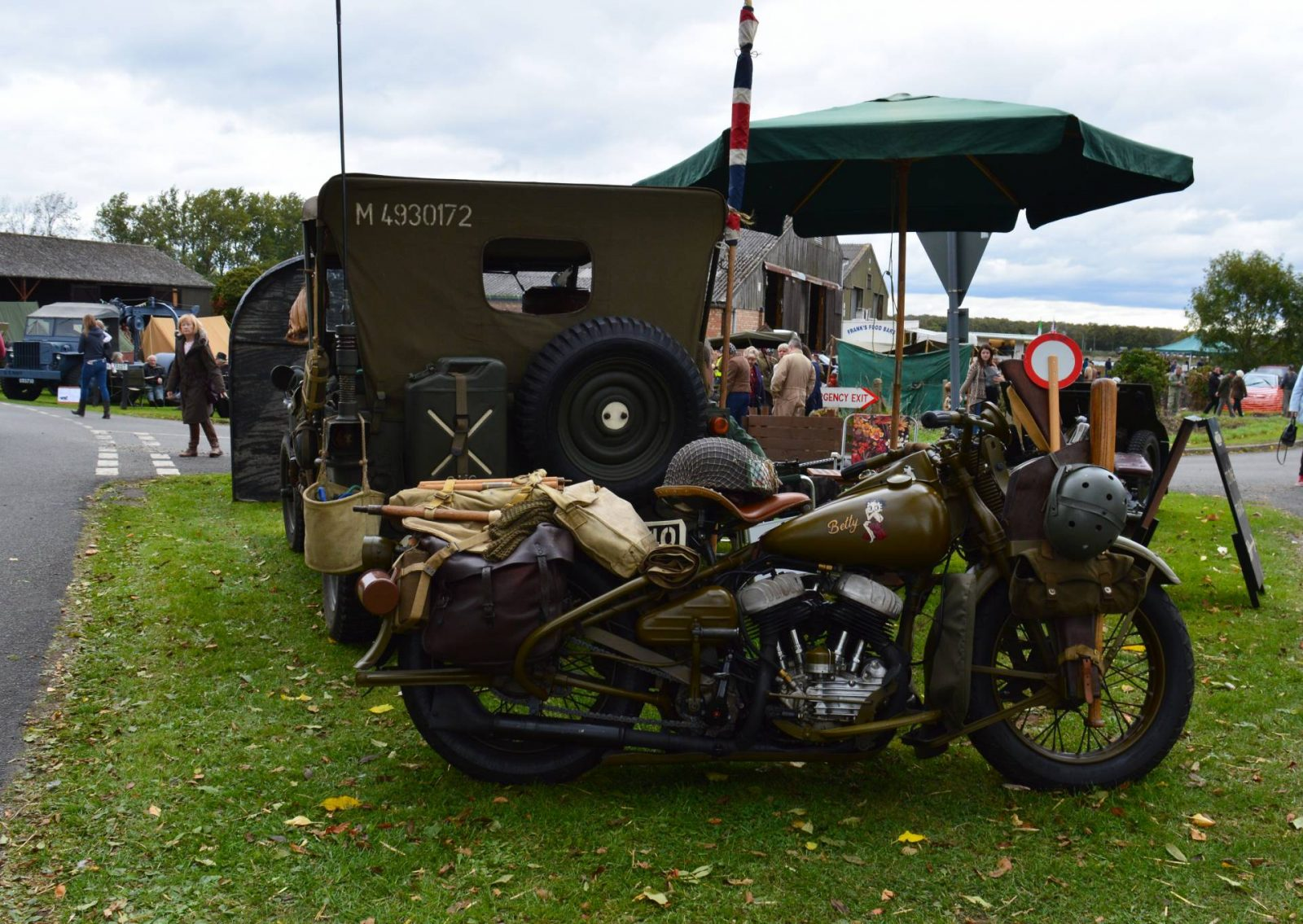 'Life on the Holme Front' 1940s Weekend motorbike