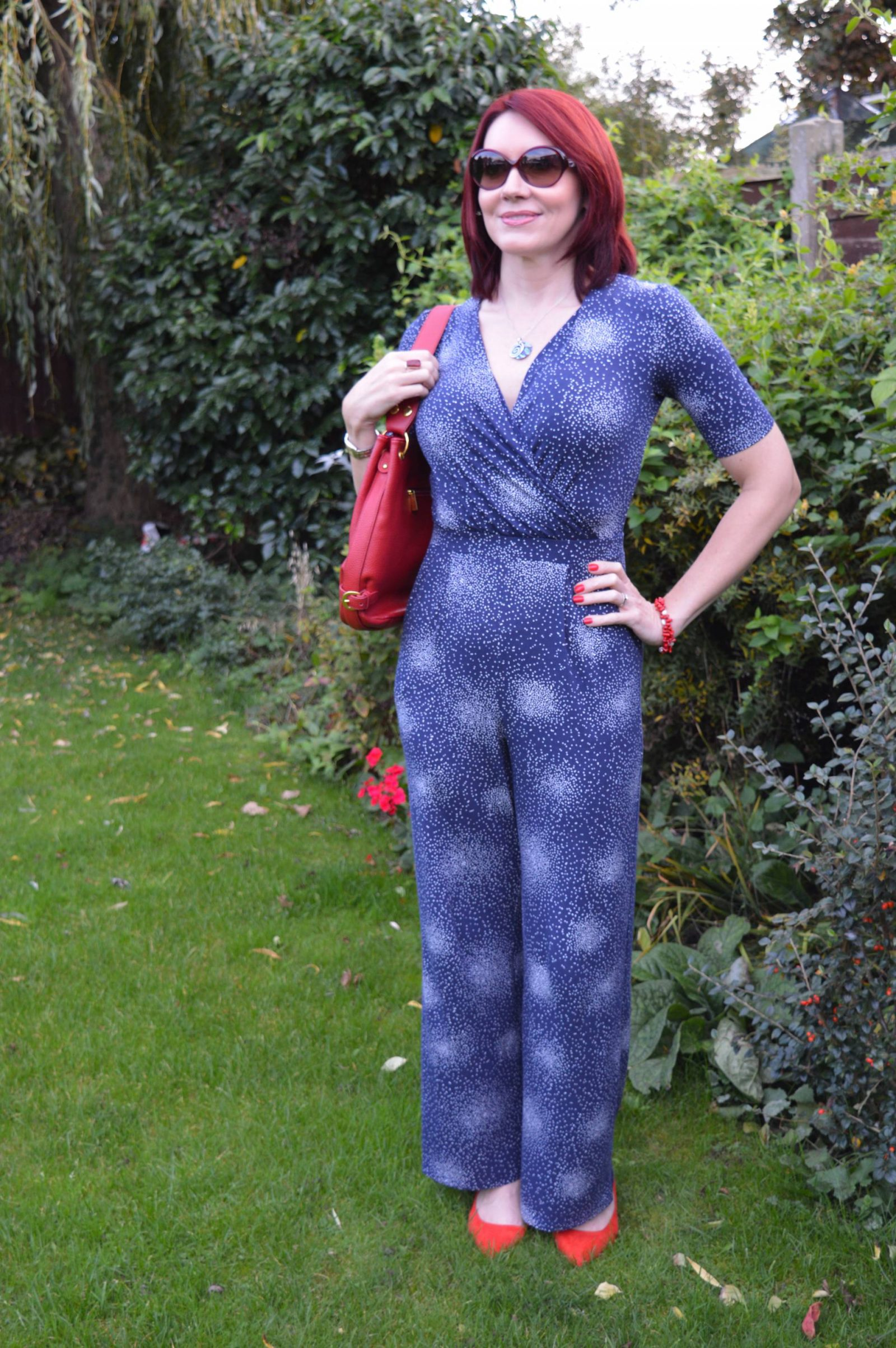 Styling a Jumpsuit For Day to Night Laura Ashley jumpsuit