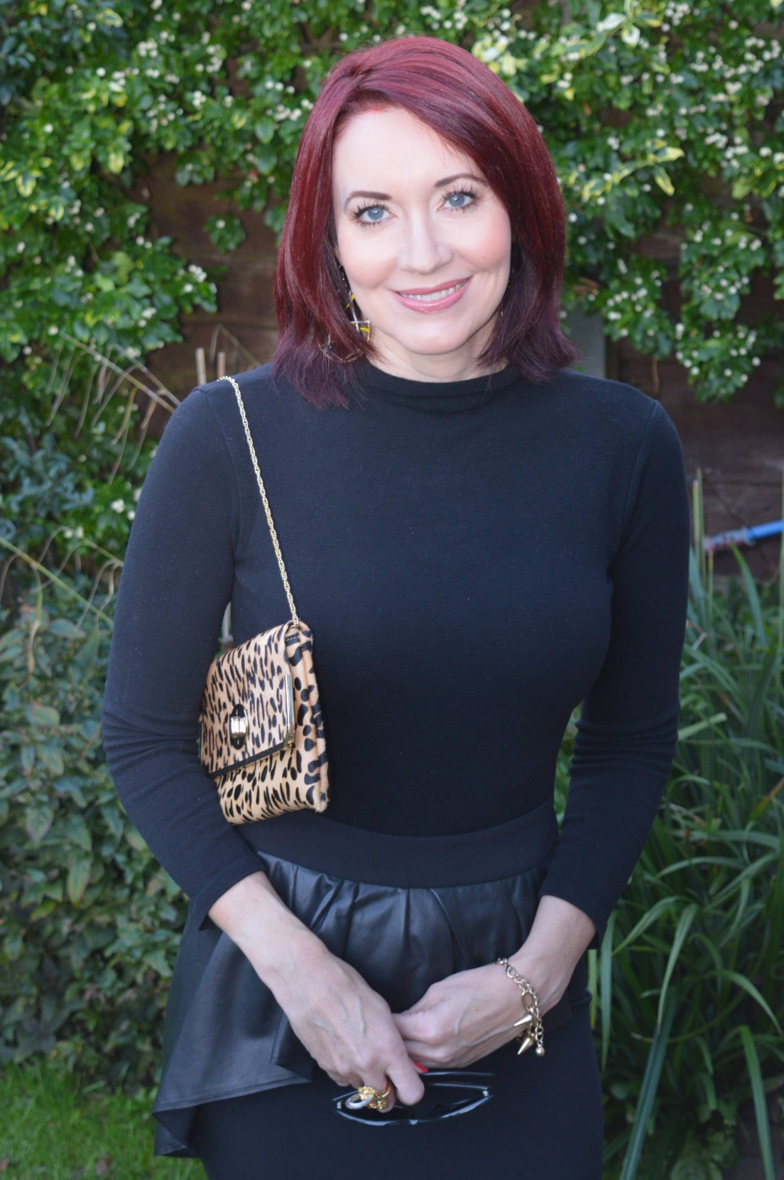 Leopard Print Boots and a Peplum Skirt