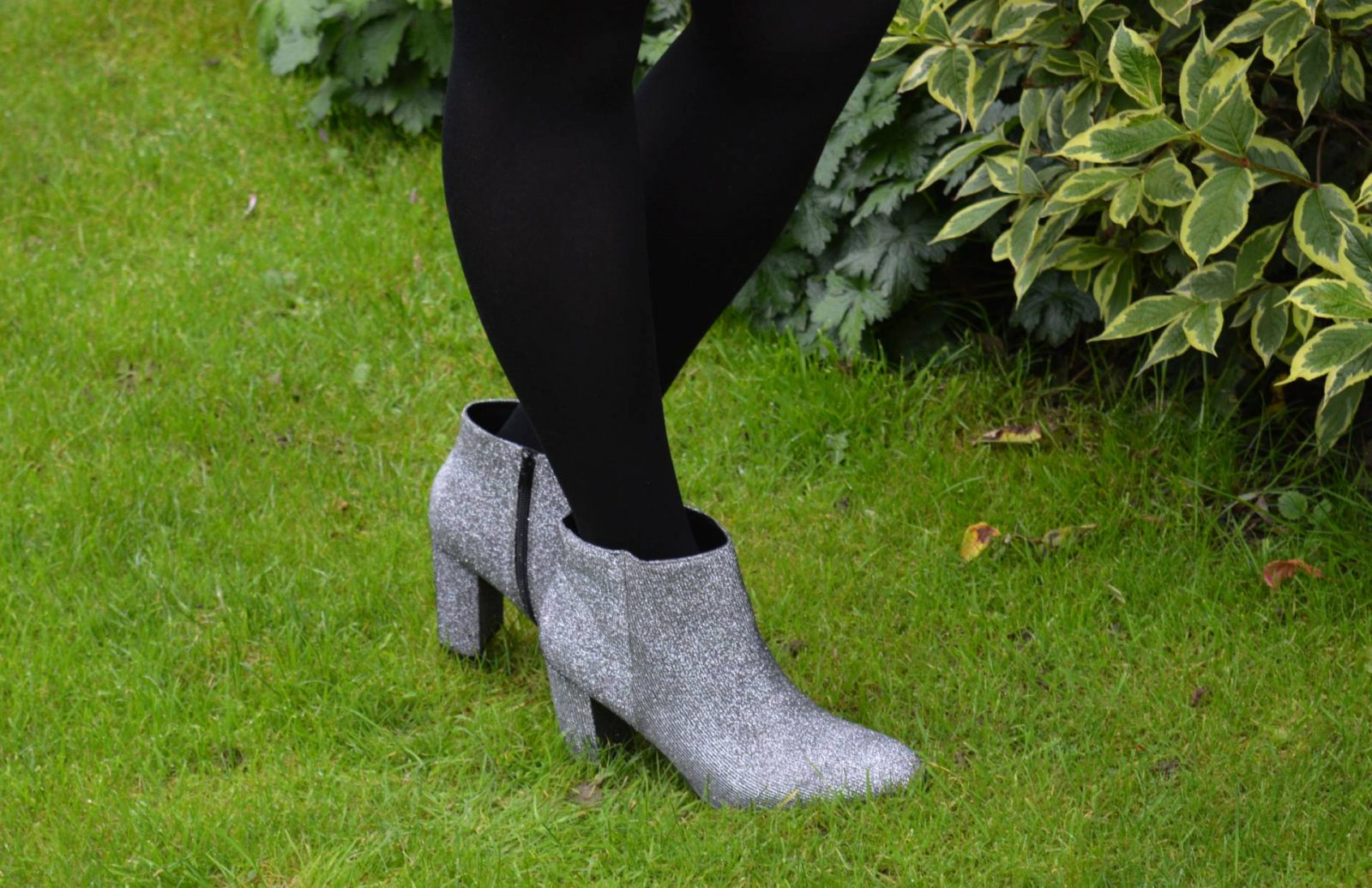 New Look silver sparkly ankle boots