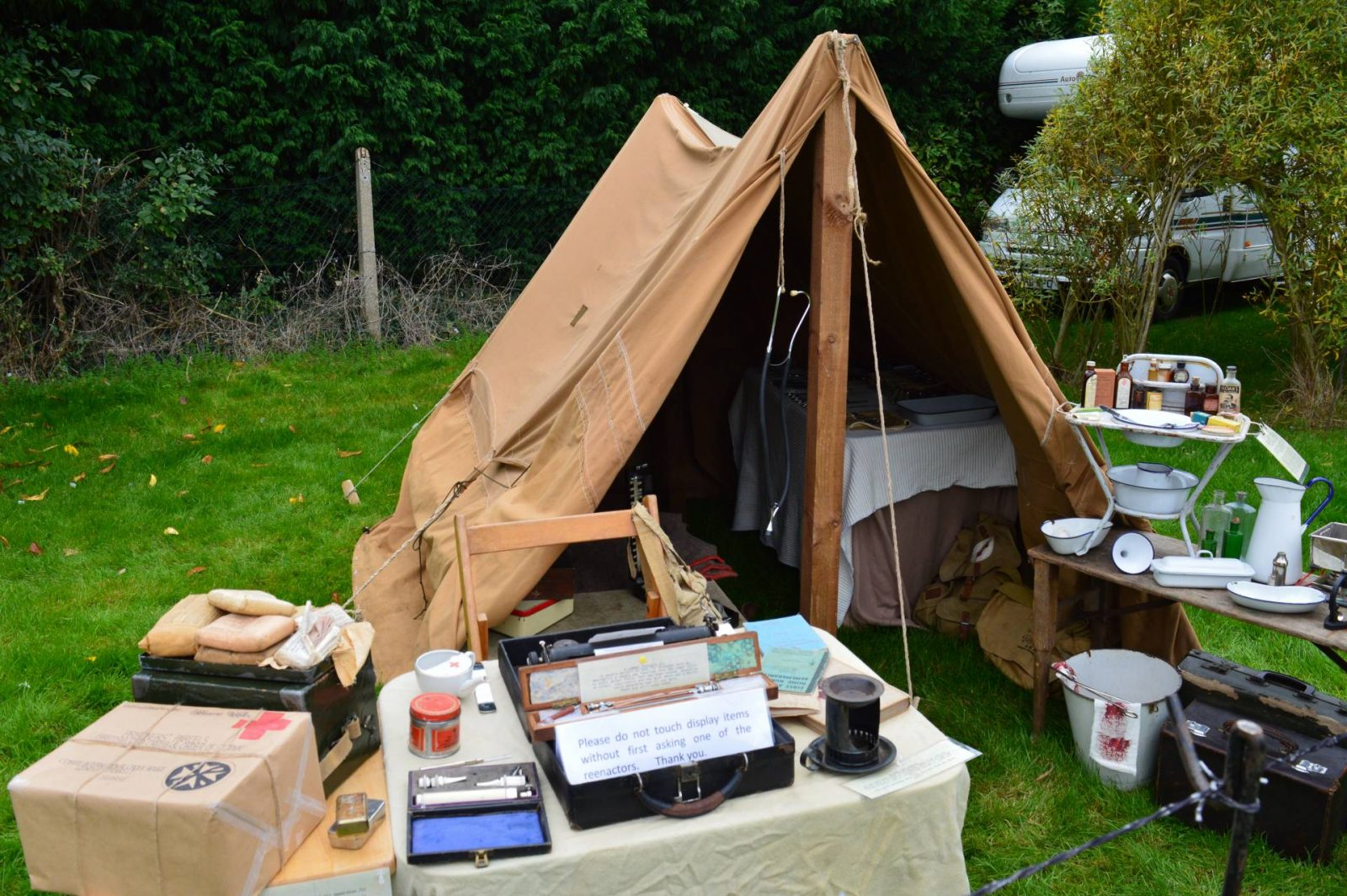 'Life on the Holme Front' 1940s Weekend hospital tent