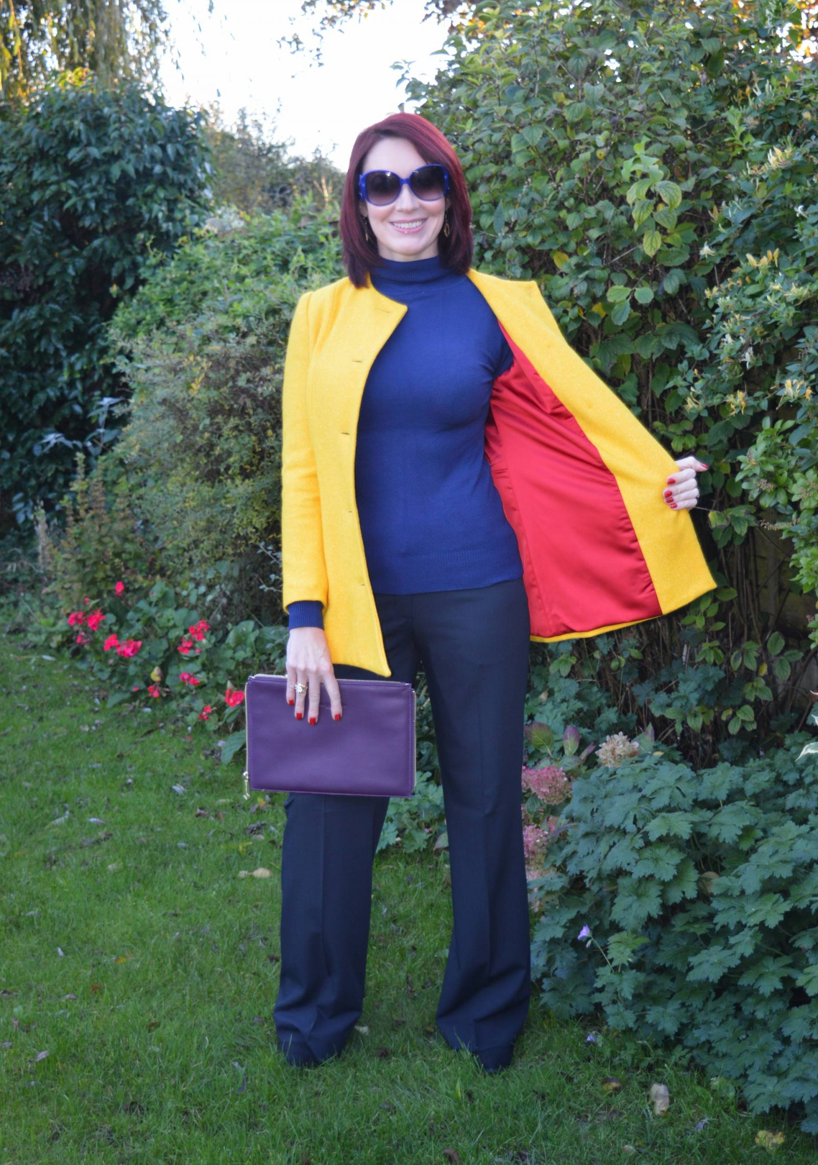 Bright Yellow Coat and Meeting Jacynth from The Bias Cut Emile Vidal Carr yellow Ellis coat