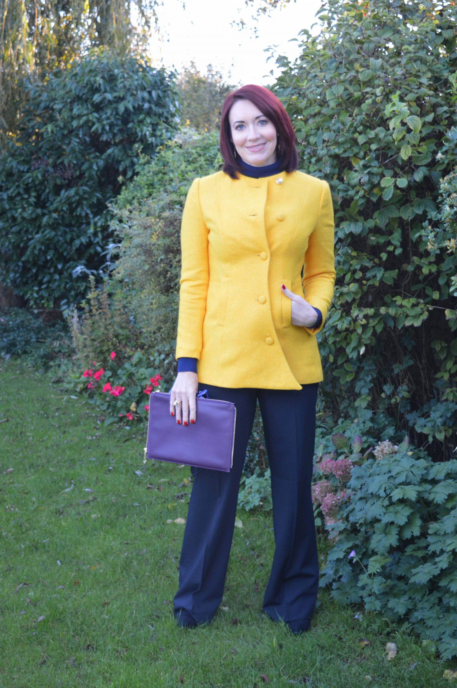 Bright Yellow Coat and Meeting Jacynth from The Bias Cut Emile Vidal Carr Ellis coat