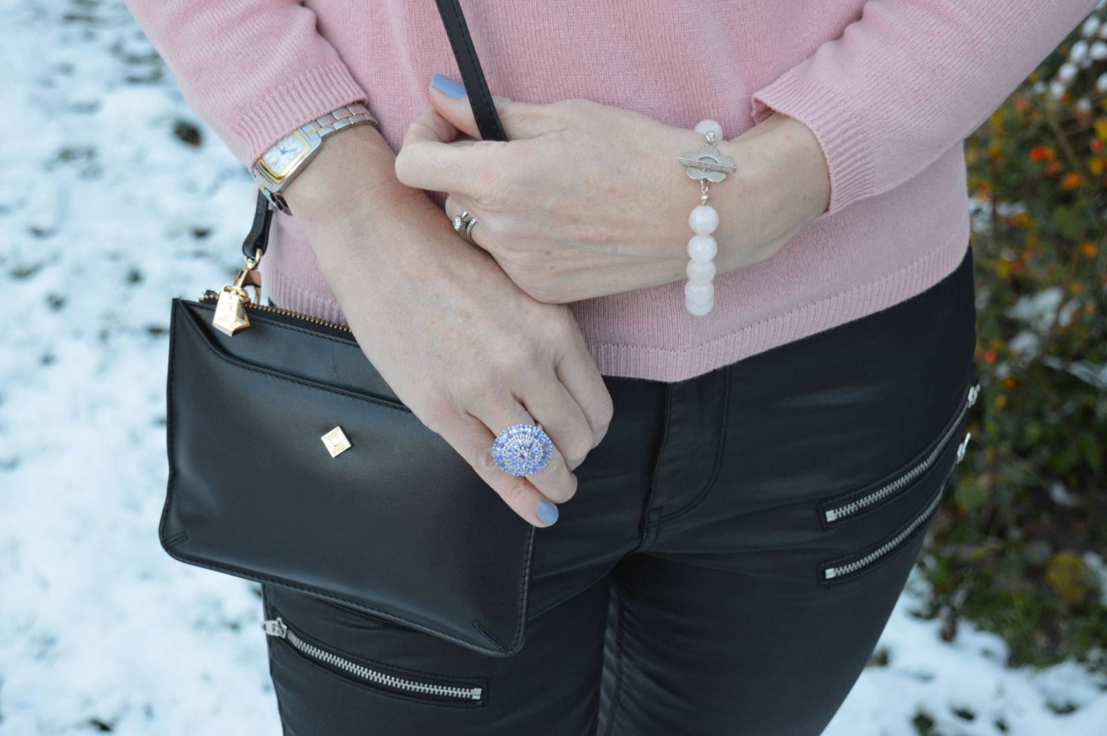 Shades of Pink With a Sprinkle of Glitter + Link Up