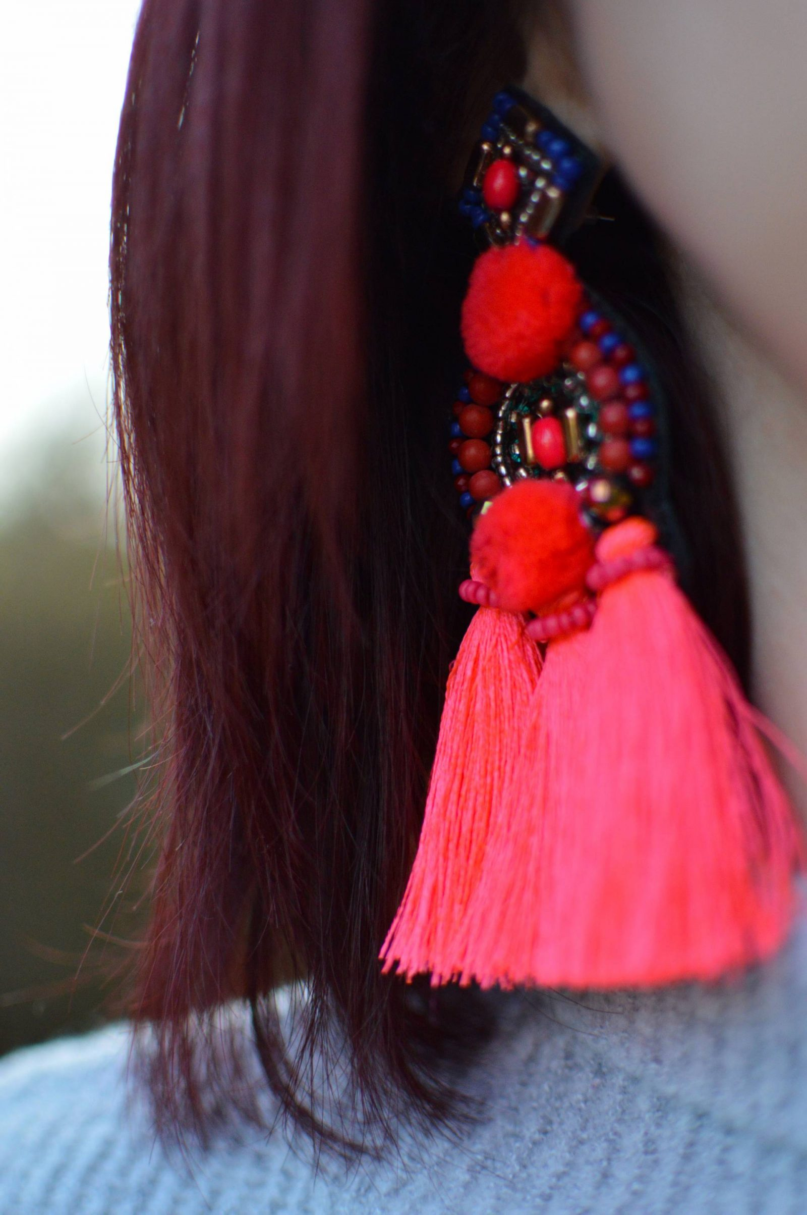 Asos seed bead tassel earrings