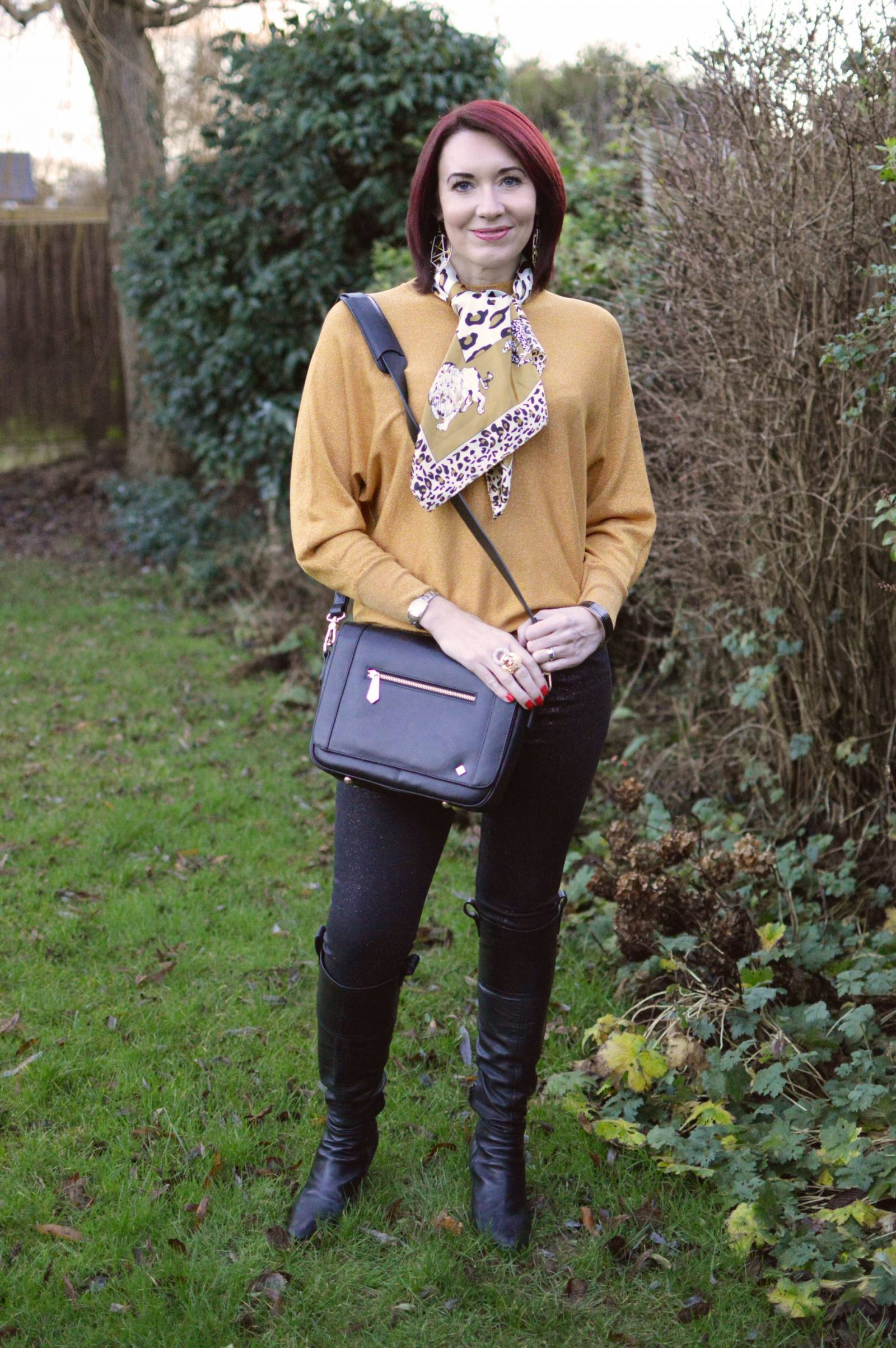 Gold Sparkly Jumper and Glitter Jeans