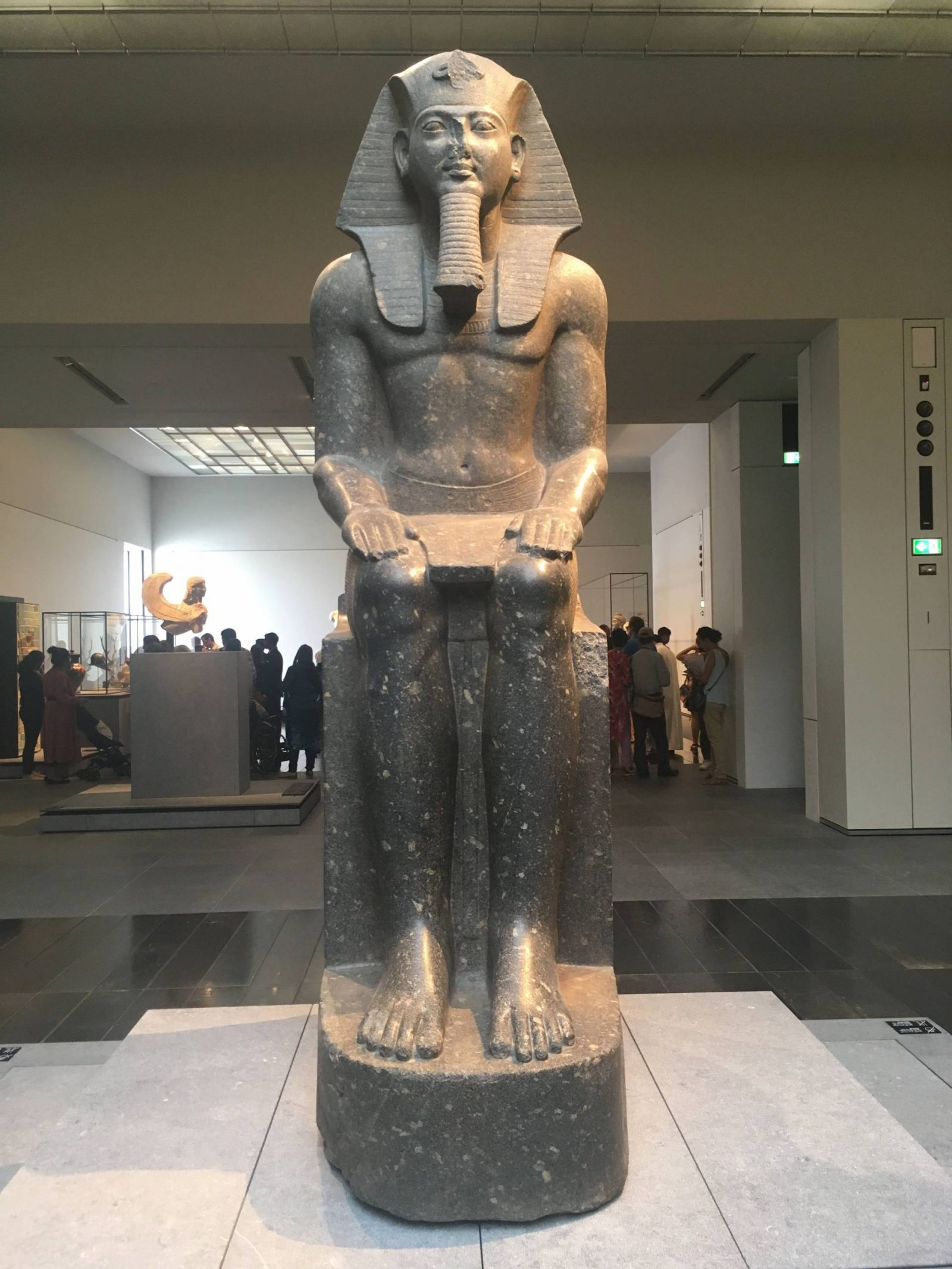 Visiting the Louvre Abu Dhabi and Sheikh Zayed Grand Mosque, Ramses II statue