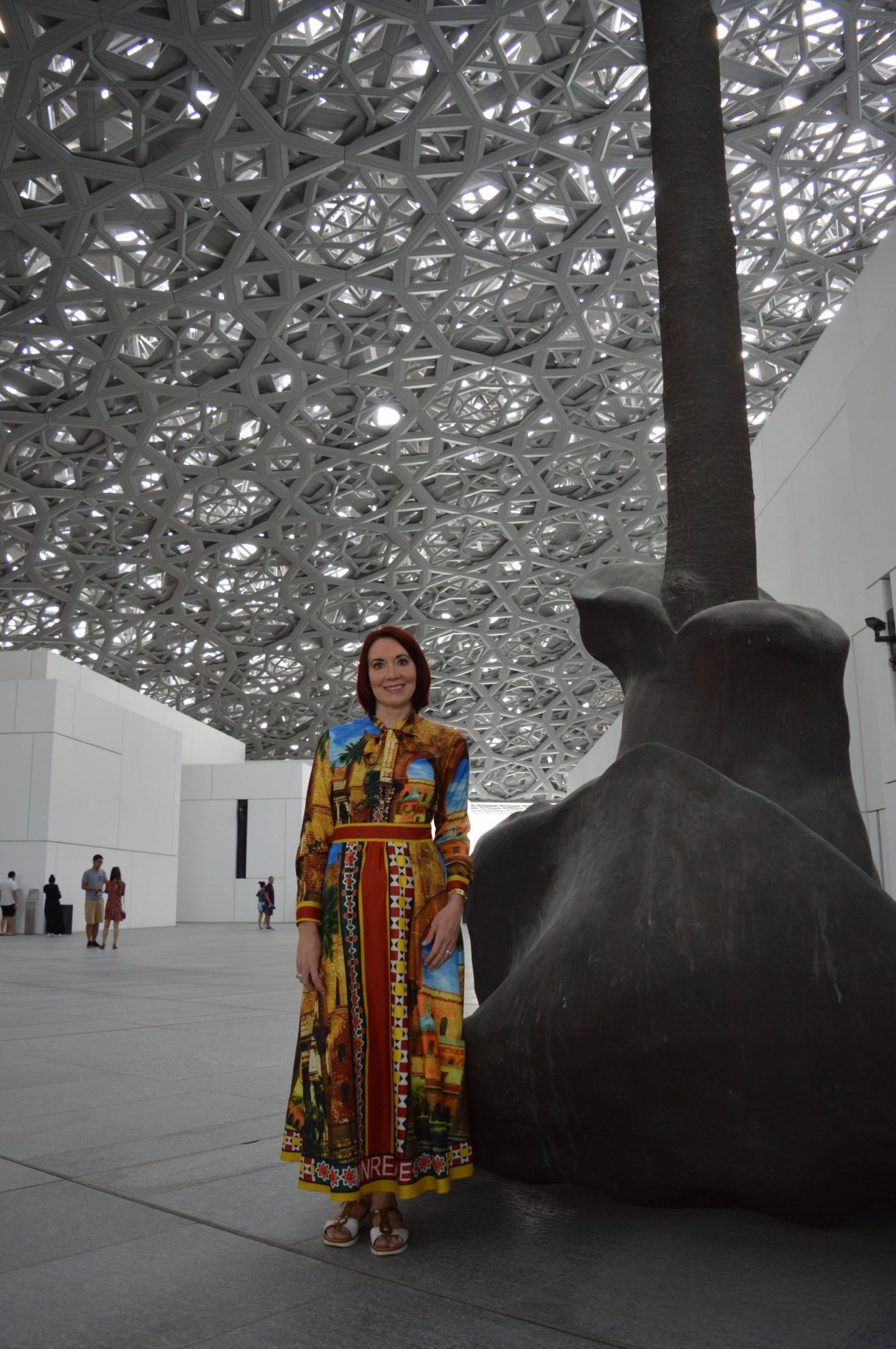 6 Things To Do in Abu Dhabi, Louvre Abu Dhabi rof dome inside