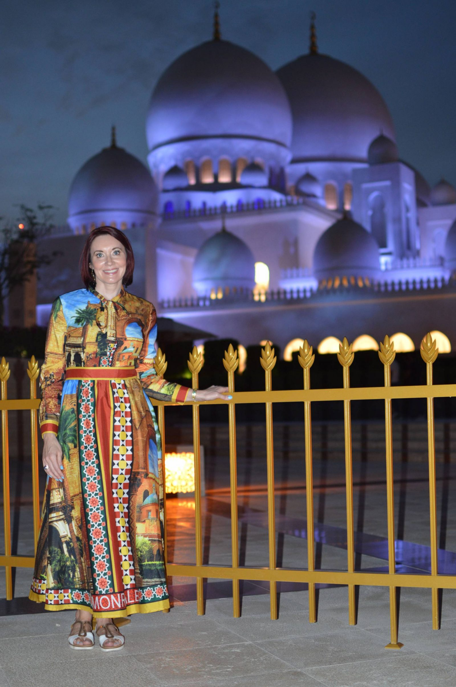 maxi dress Sheikh Zayed Grand Mosque Abu Dhabi