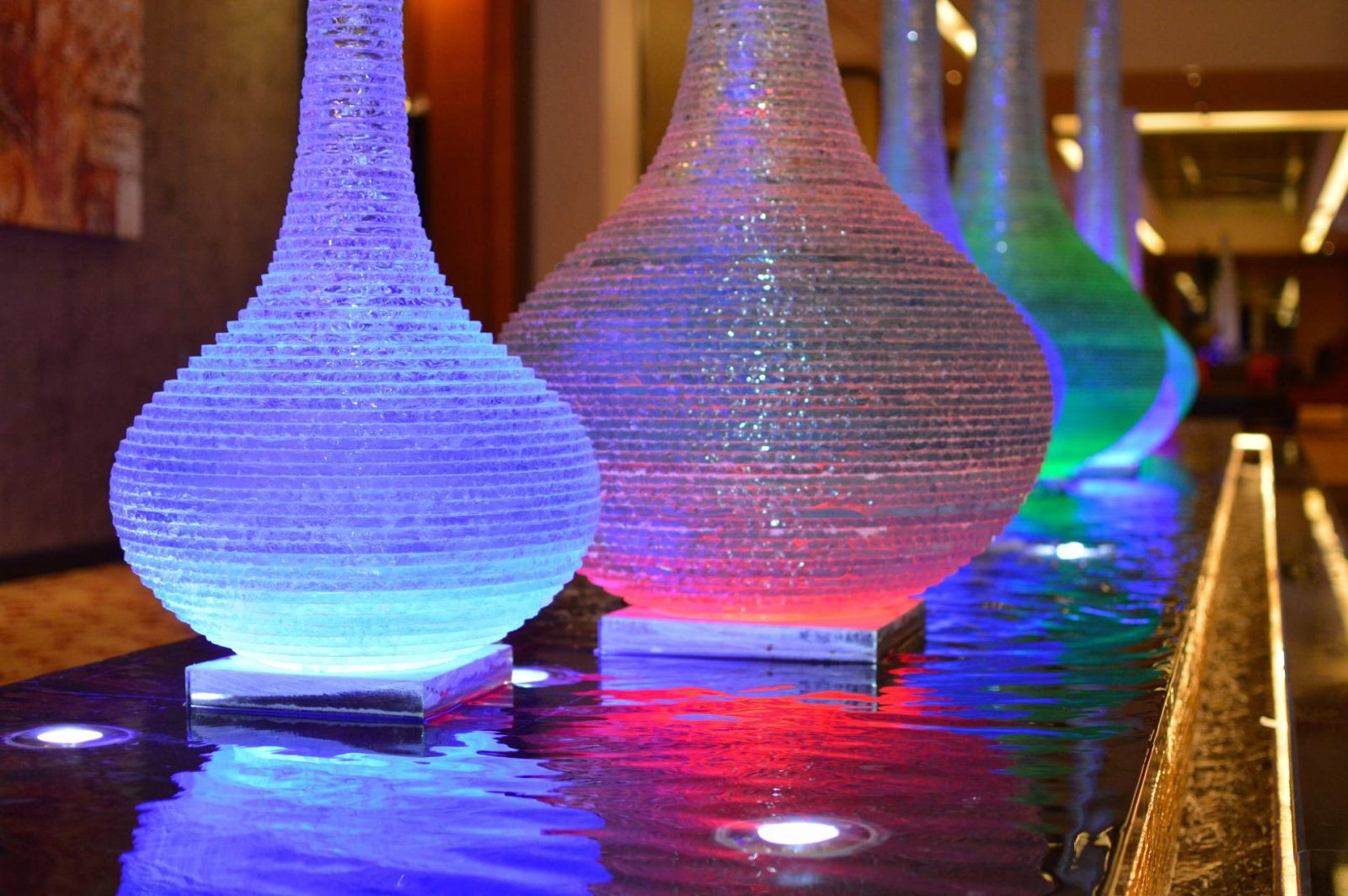 lights inside Al Raha Beach Hotel, Abu Dhabi