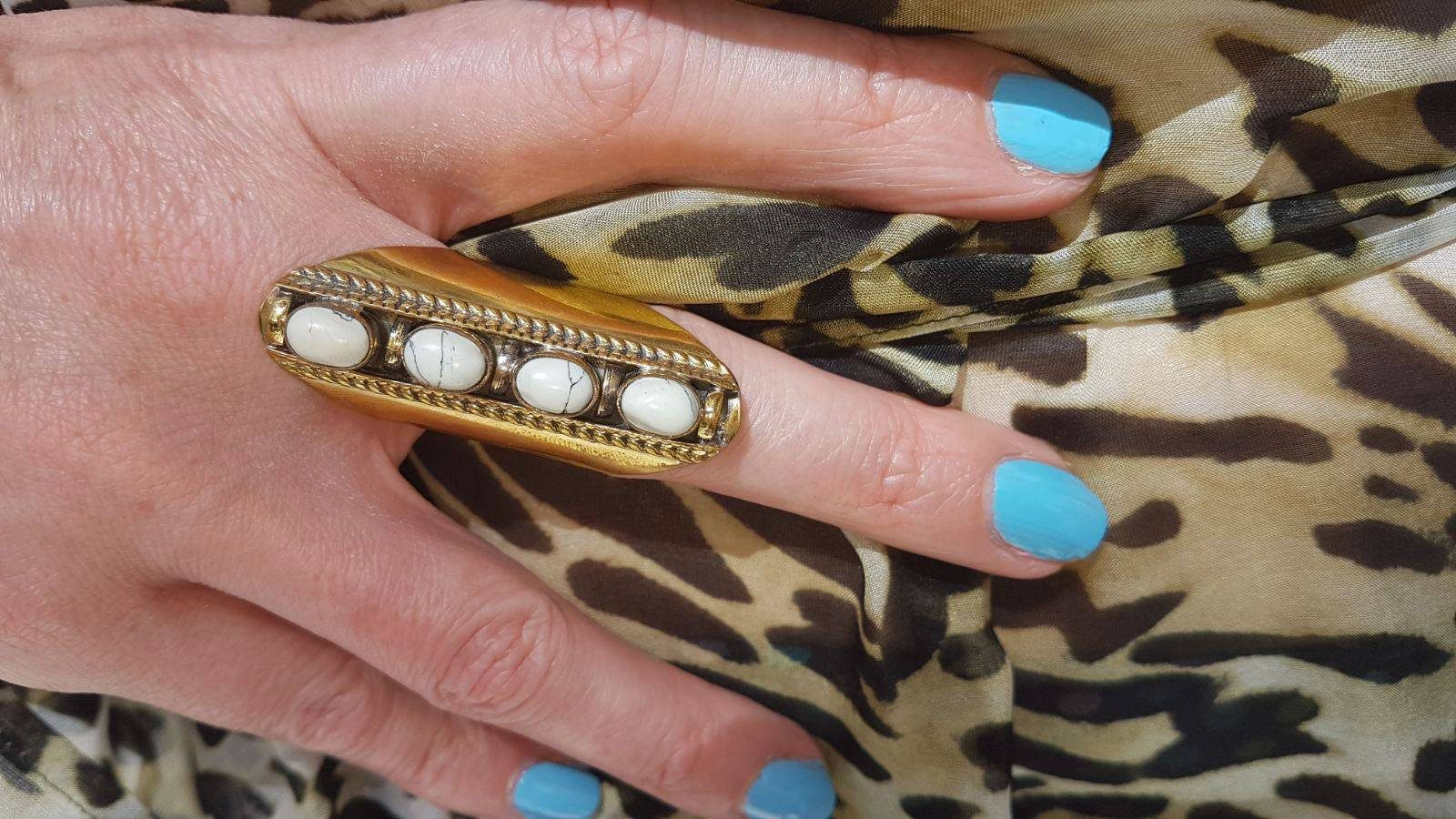 Poolside Glamour With Miss Tunica, Mondello leopard print tunic, Piha ring
