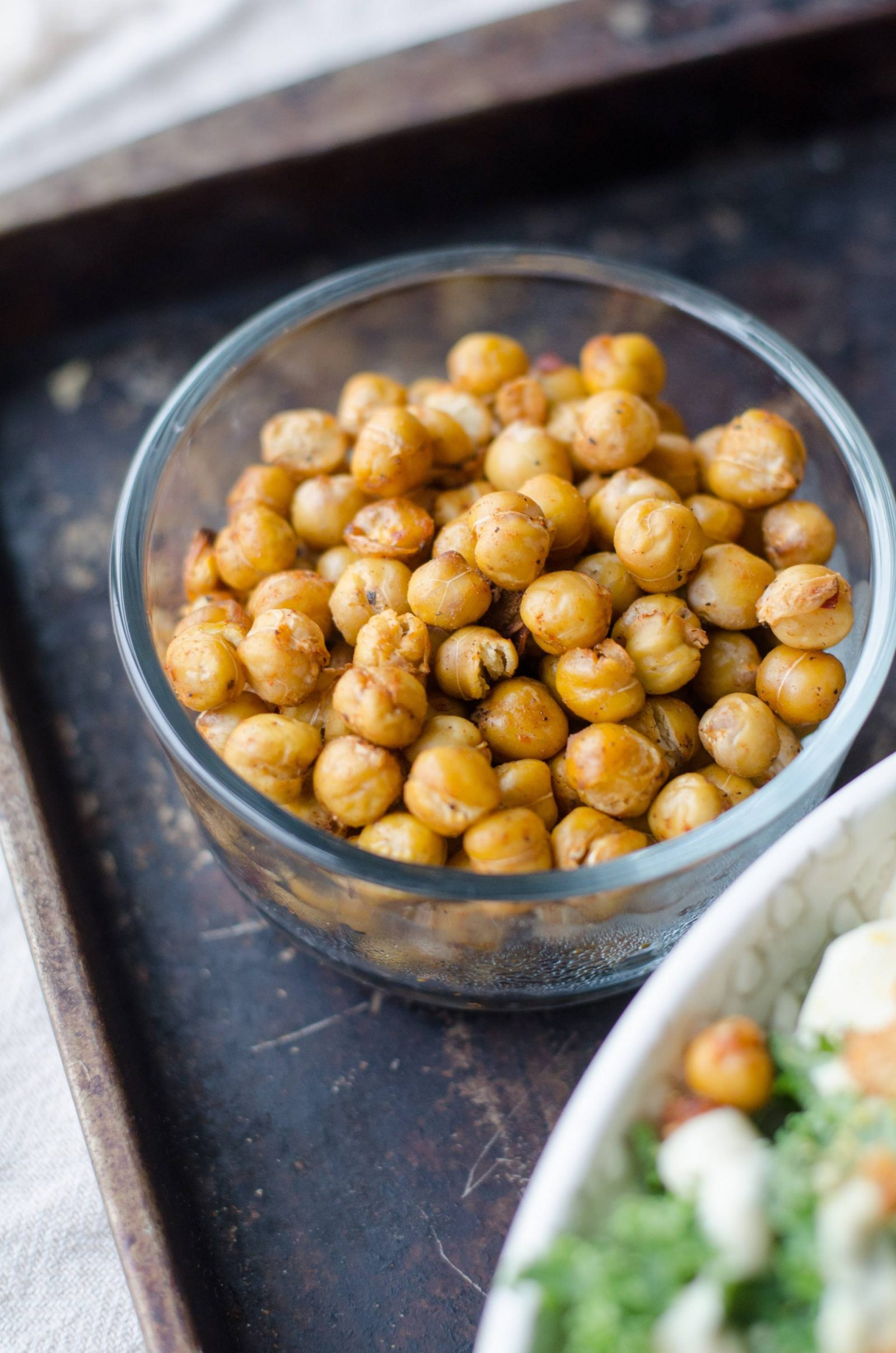 Six months of being vegan, bowl of chickpeas