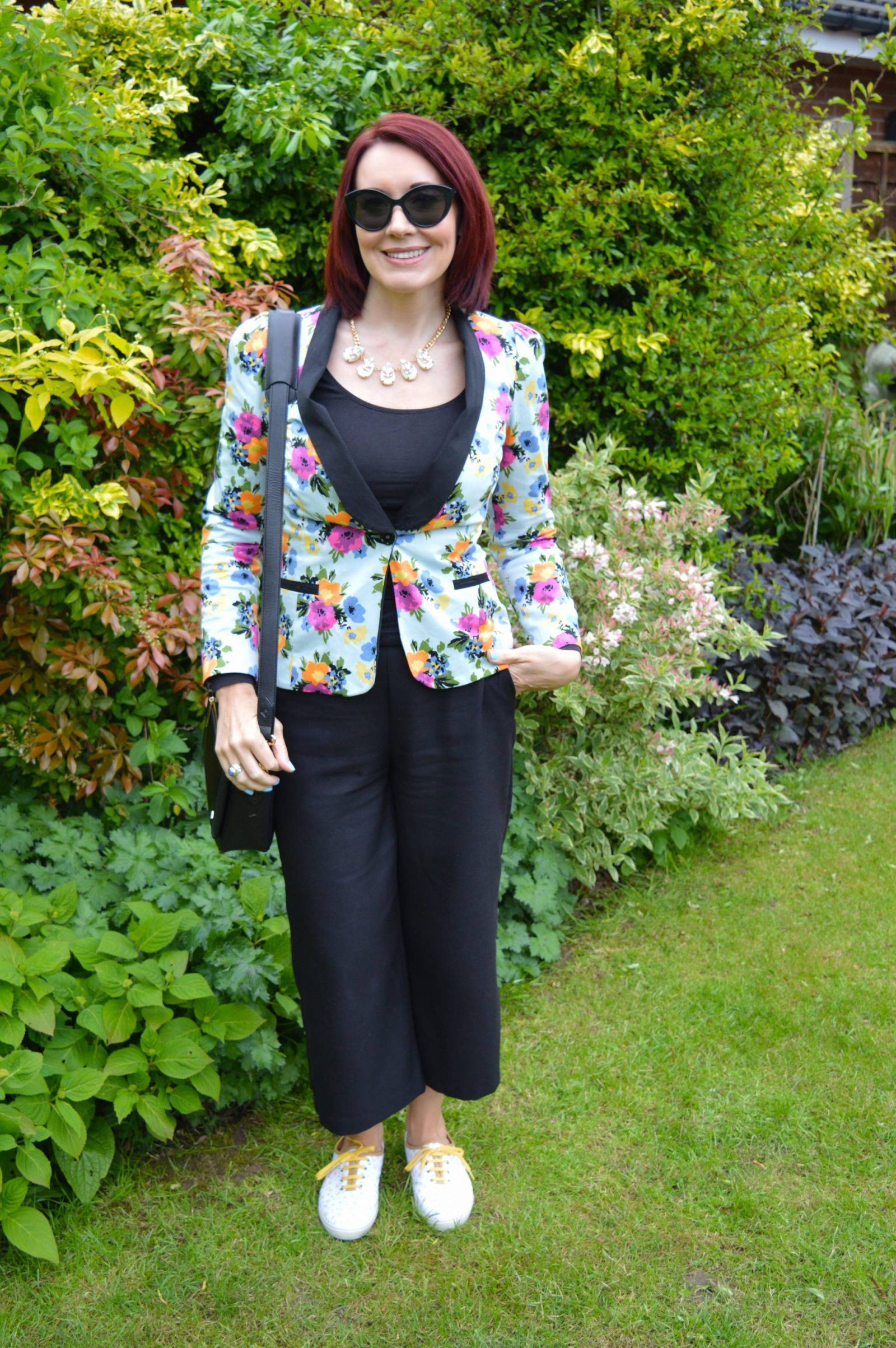 Styling floral prints for a comfy office-appropriate look