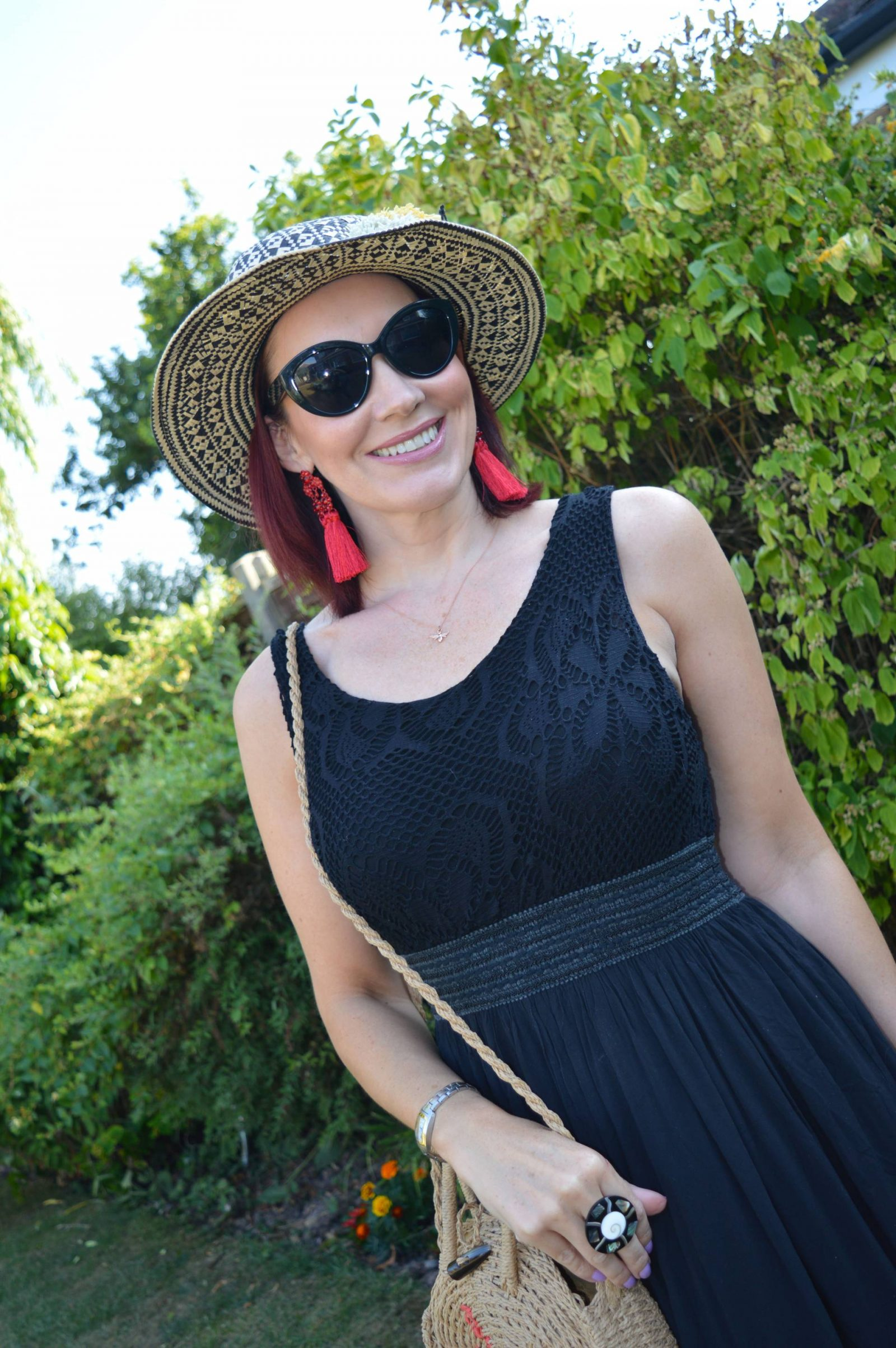 Krisp Black maxi dress for a hot Summer's day