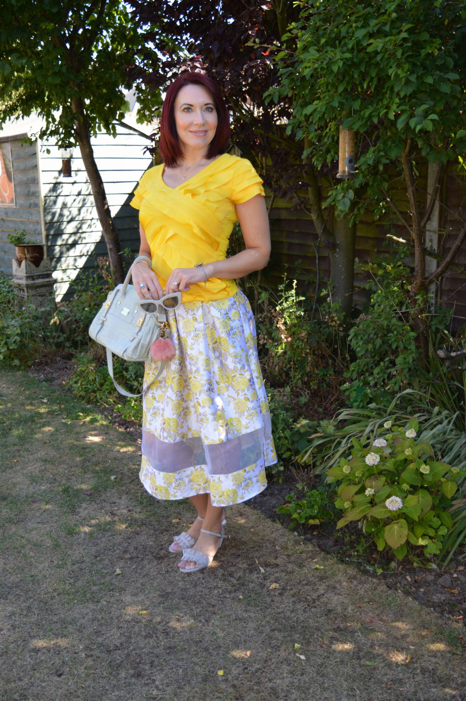 Feeling Summery in bright yellow and Calla Florence Sandals