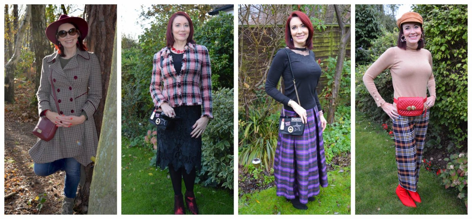 Five major fashion trends for Autumn/Winter 2018 , check, tartan and plaid print outfits