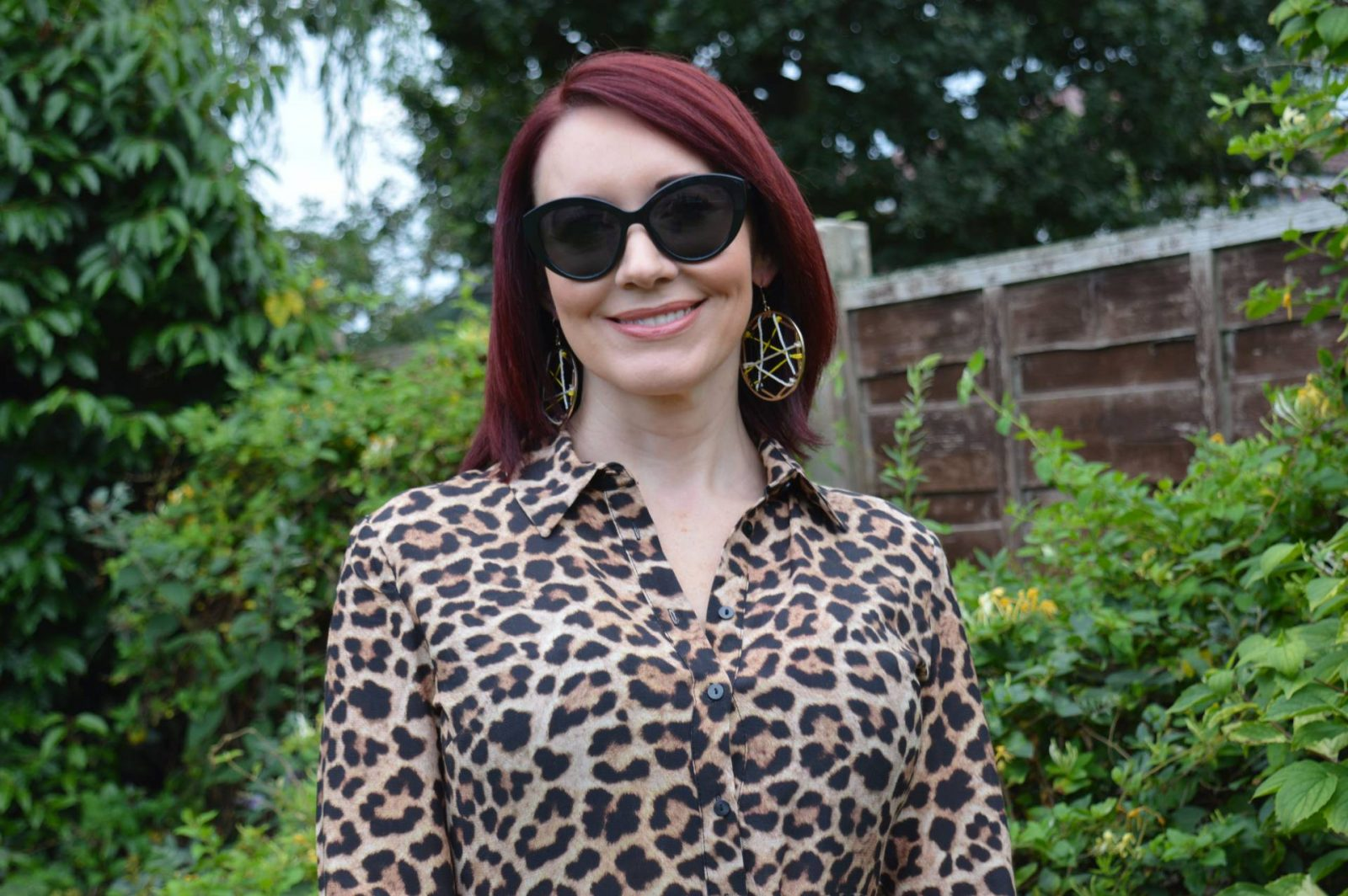 Zara leopard print shirt dress
