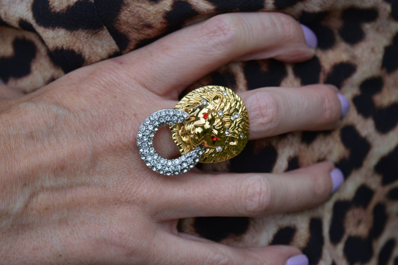Kenneth Jay Lane lion ring