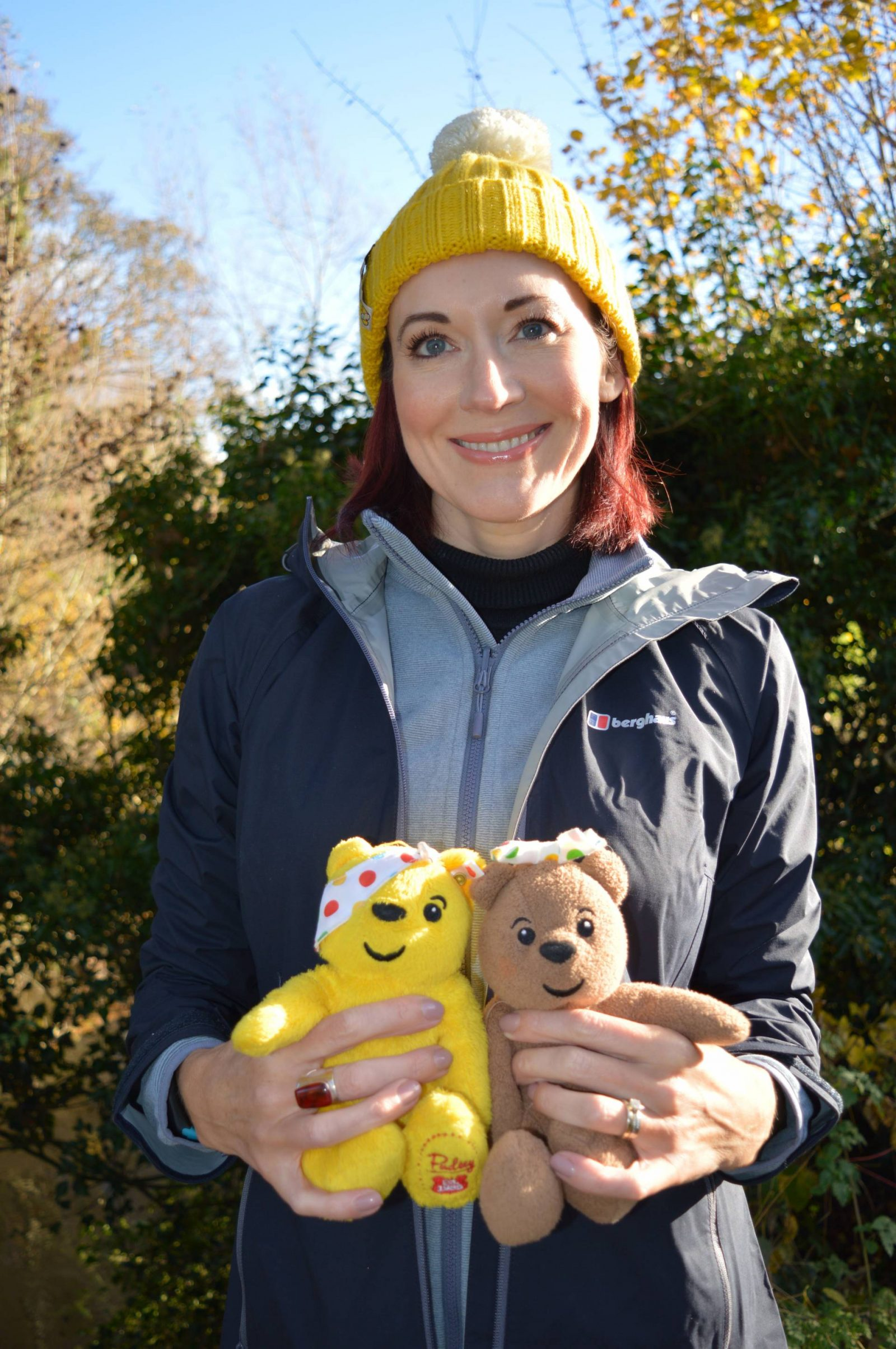 Dressing for adventure in the great outdoors, Children in Need Countryfile bobble hat, Pudsey and Blush bear