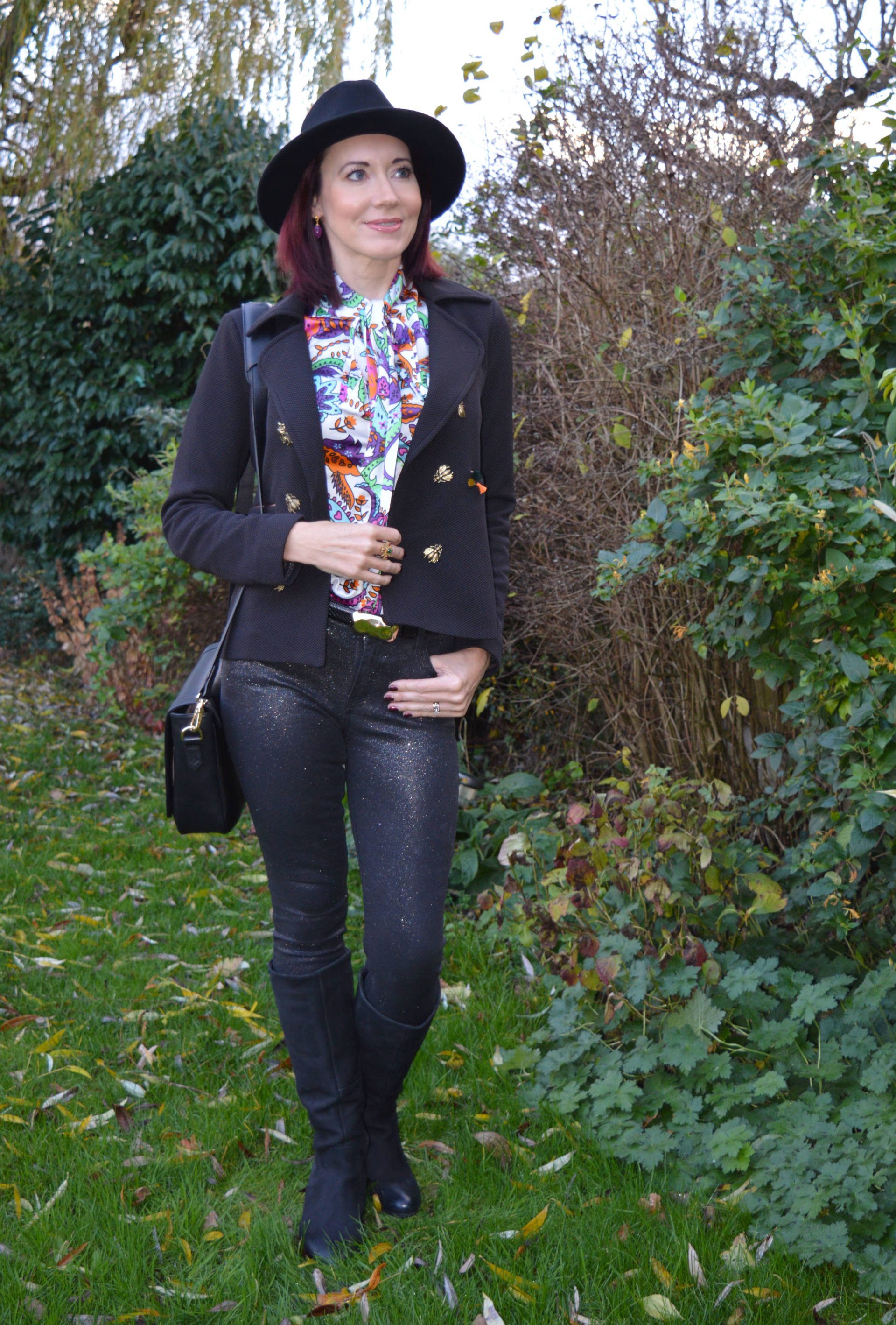 Pom bugs jacket & glitter jeans + 100th Style With a Smile link up