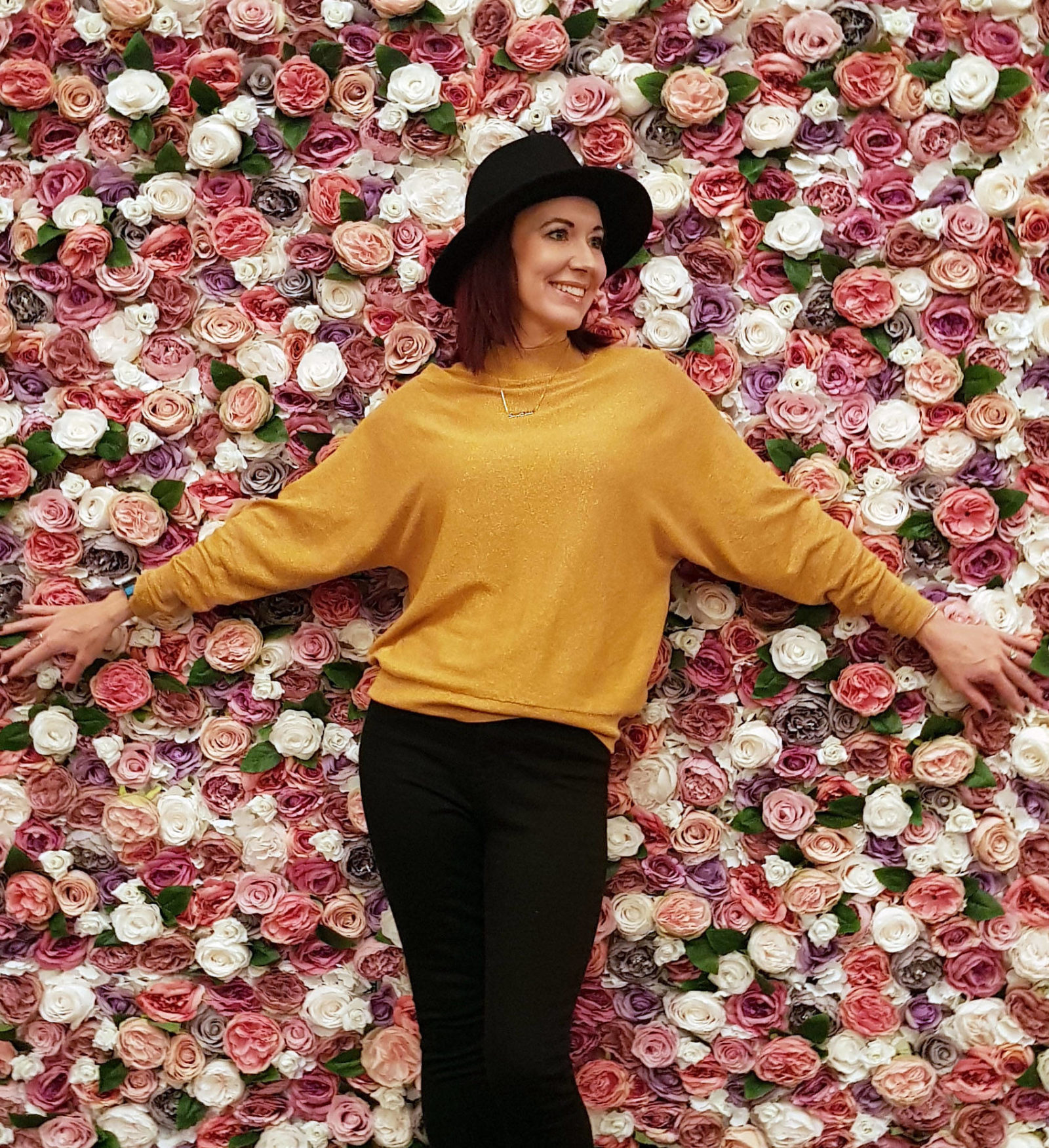 Blogosphere Festival 2018, flower wall