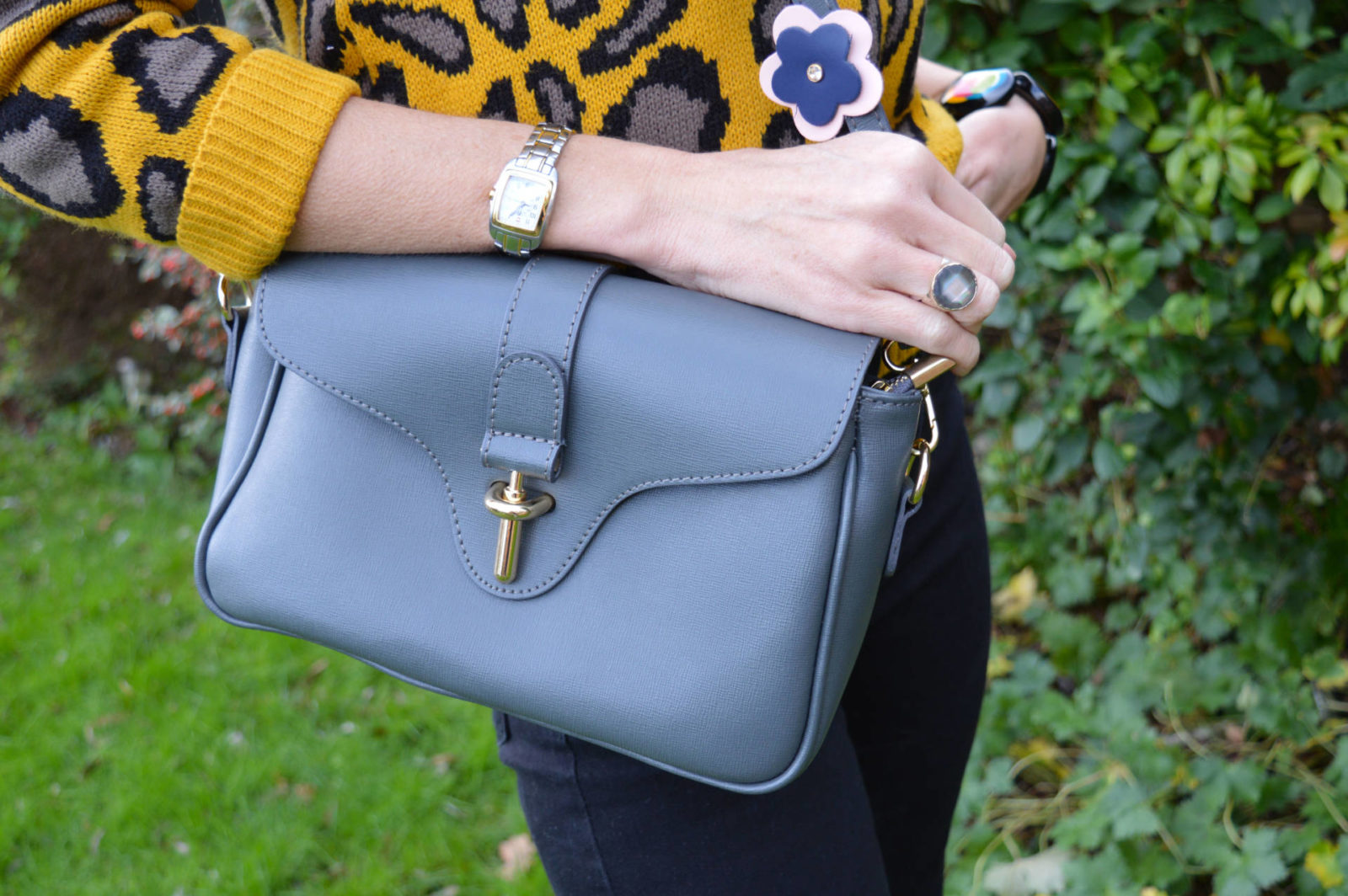 Style Not Age - January Jumpers, Ane and Elle grey shoulder bag