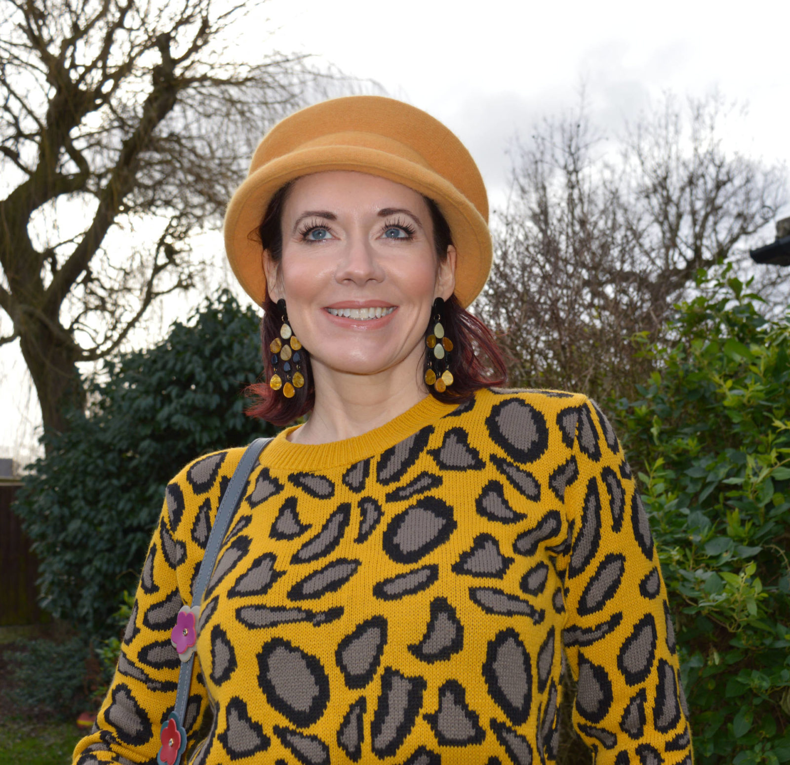 Style Not Age - January Jumpers, Asos mustard leopard print jumper, vintage mustard beret