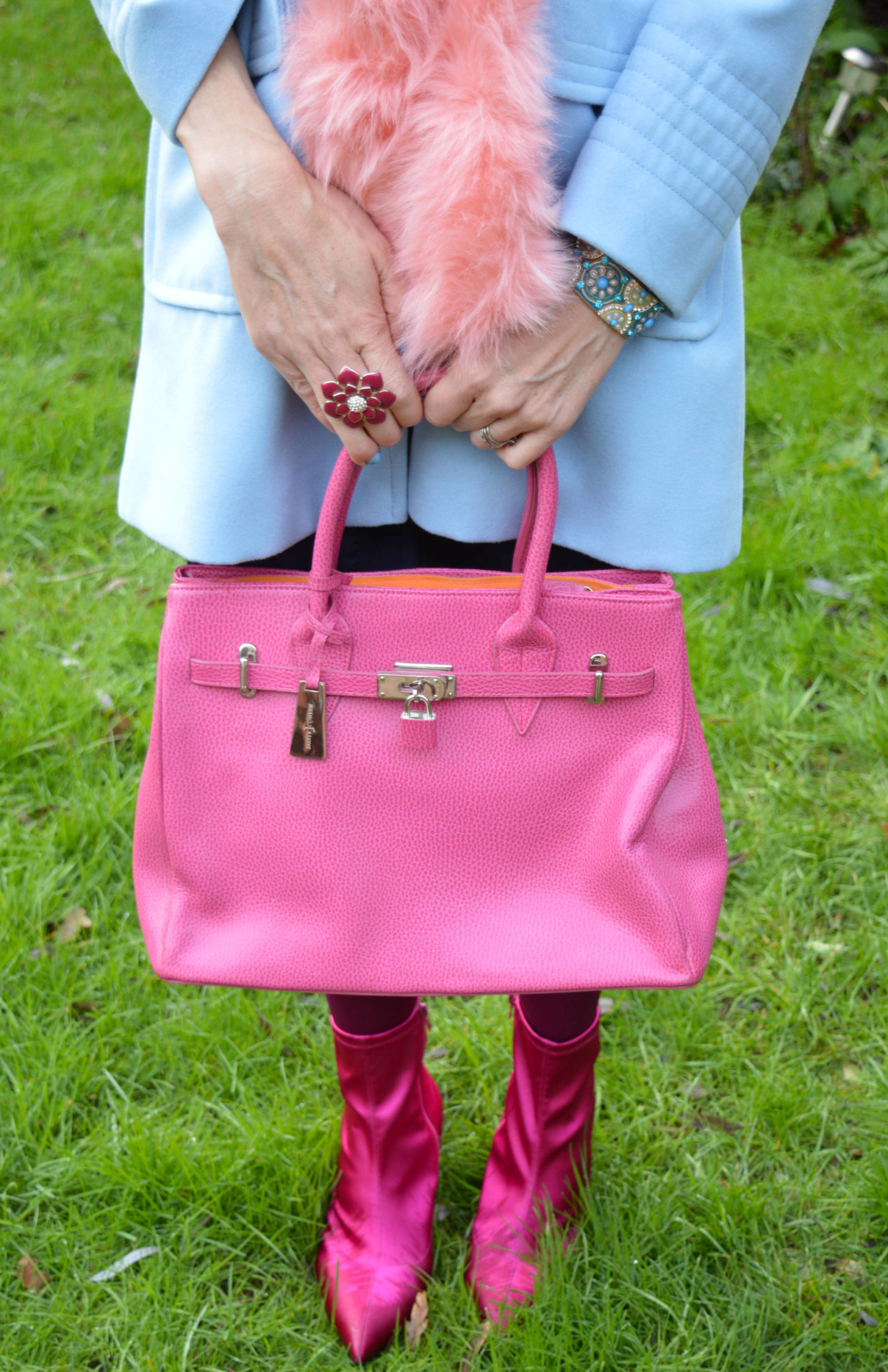 J by Jasper Conran pink tote bag