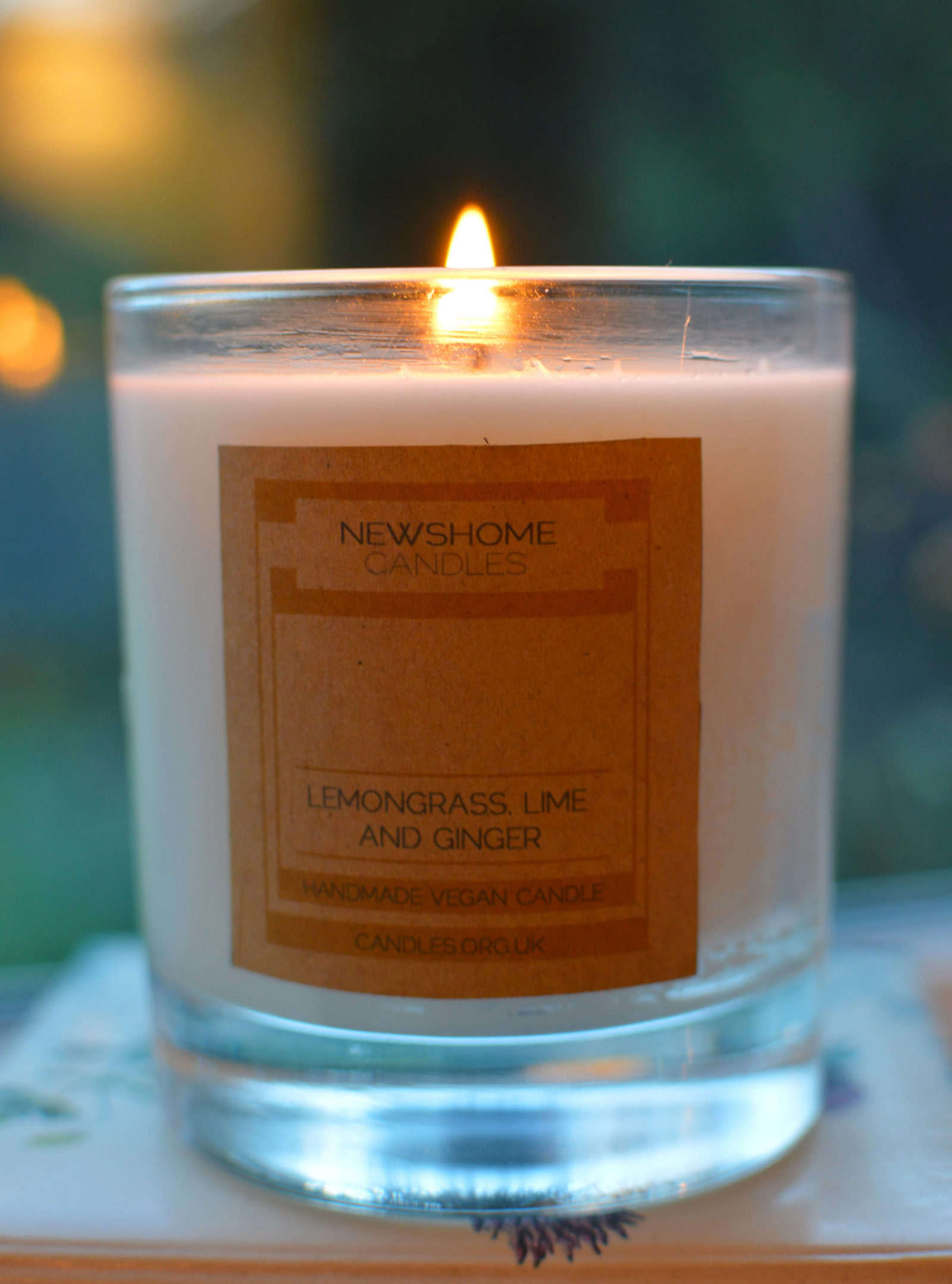 Newshome organic vegan candle