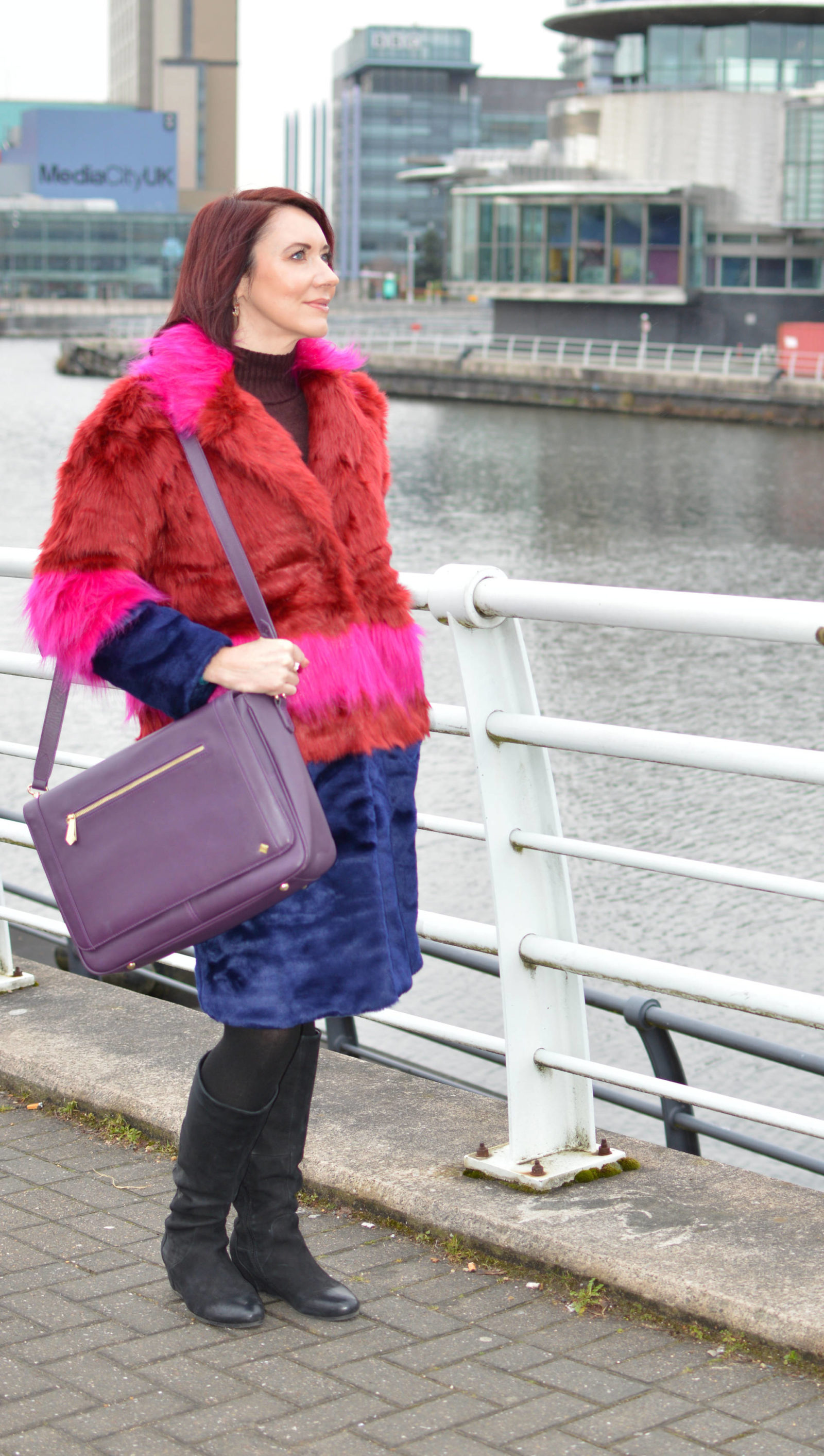Valentine's lunch date outfits, Asos faux fur coat