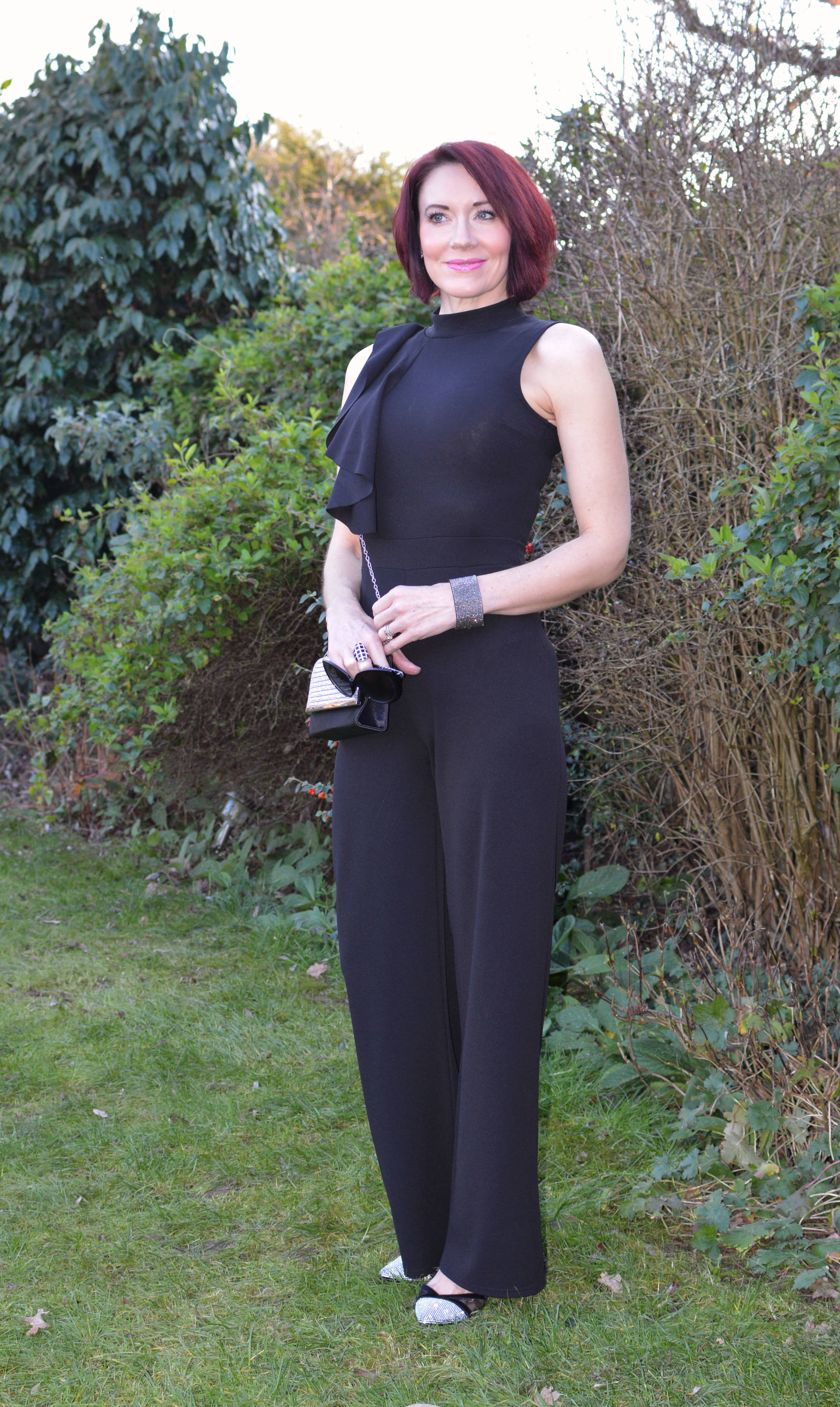 Styled by my husband: Quiz Palazzo Jumpsuit + Style With a Smile link up