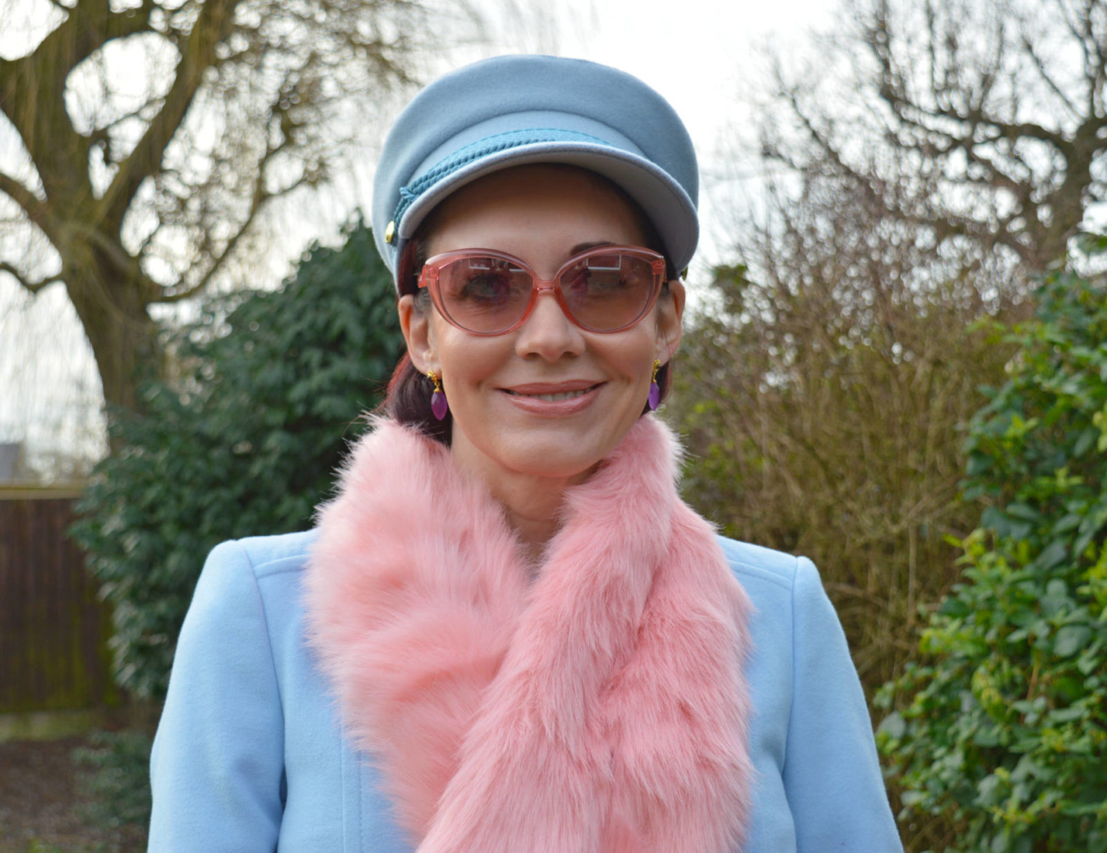 Pale Blue and Shades of Pink, Fabienne Chapot blue hat