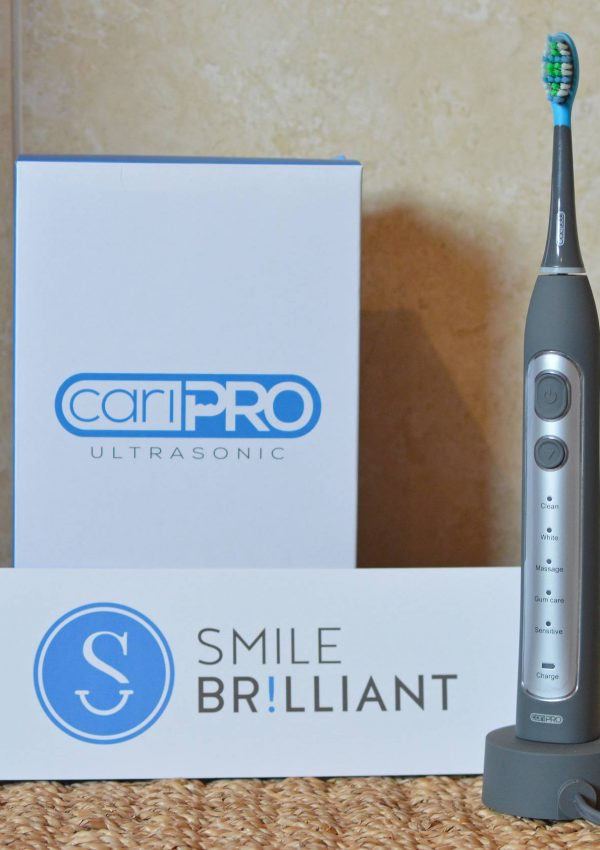 cariPRO Electric Toothbrush Review & Giveaway + link up