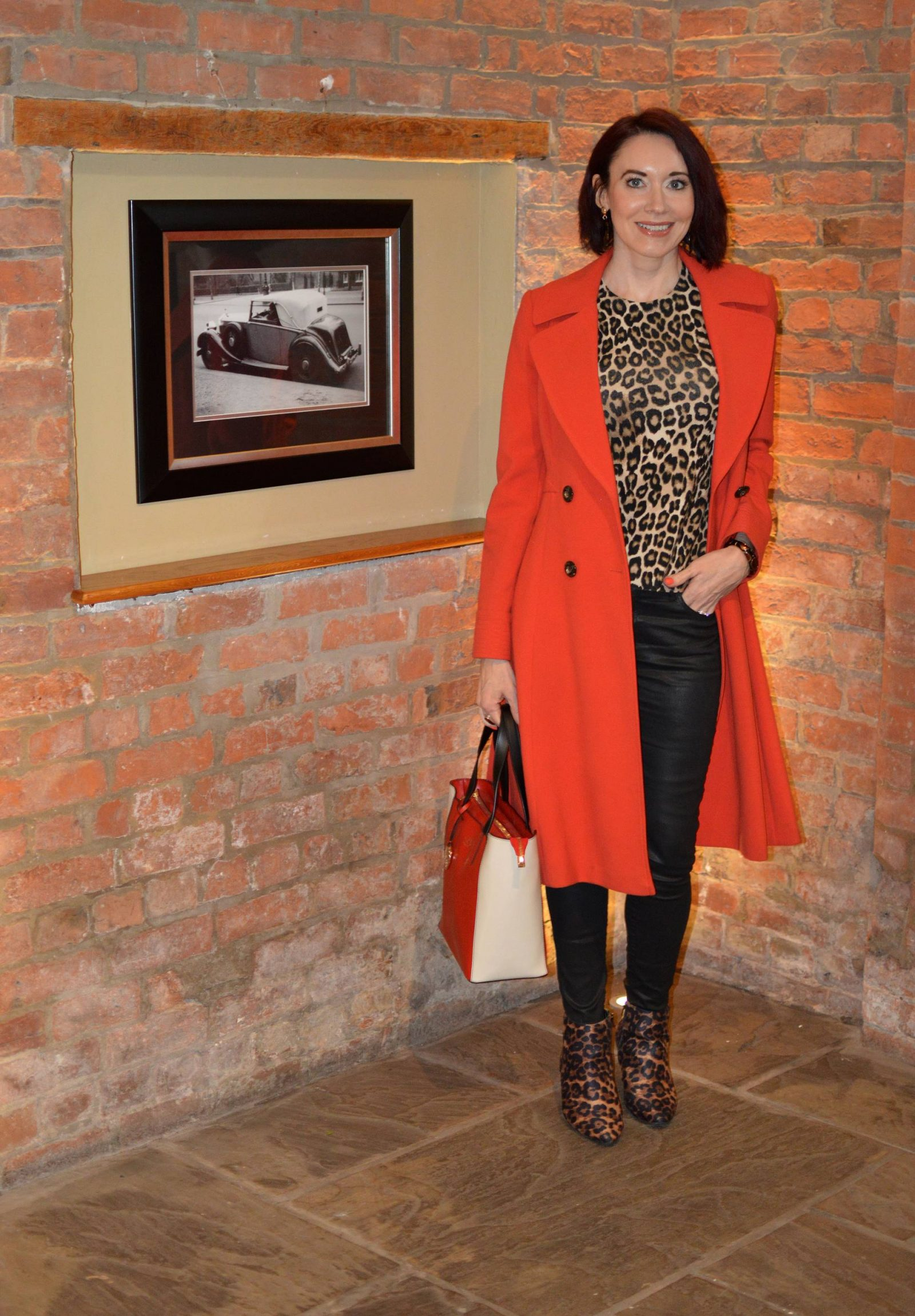 Leopard Print and Red Coat