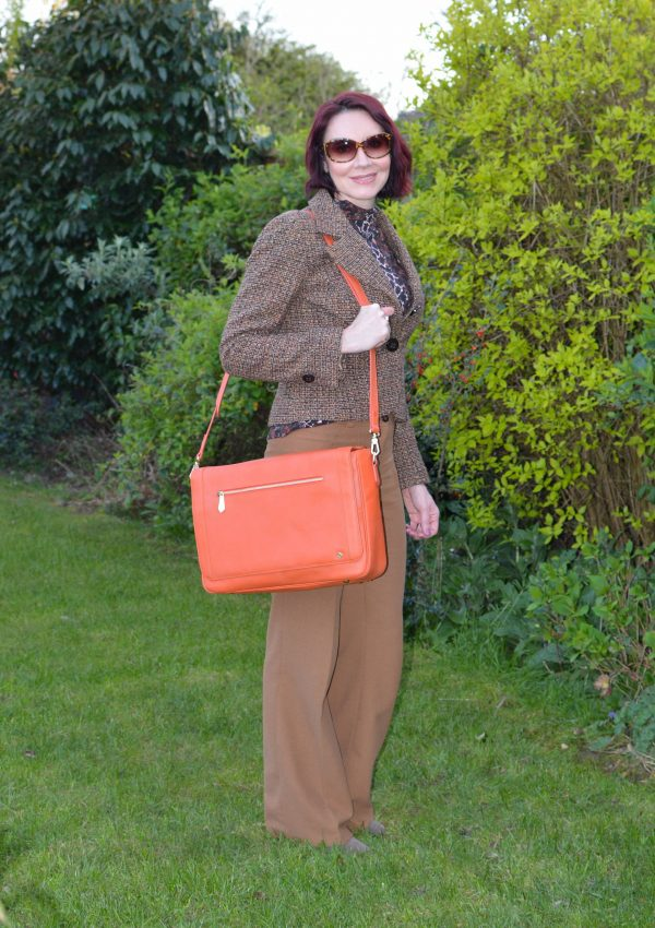 Snake Print and Tweed With Orange Accents + Style With a Smile link up