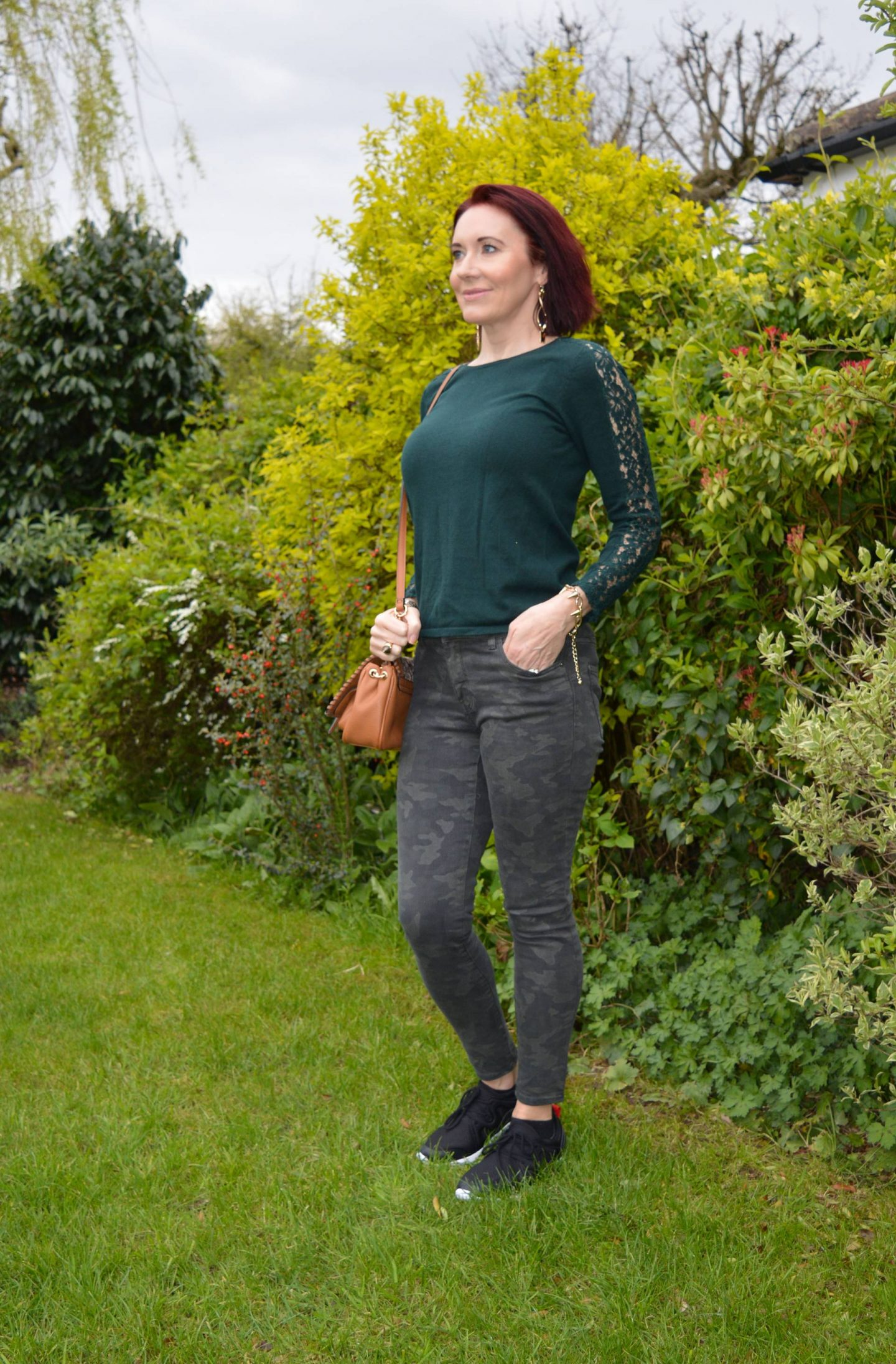 Lace, camo and Leopard Print, Vionic Storm trainers, mango camo print skinny jeans