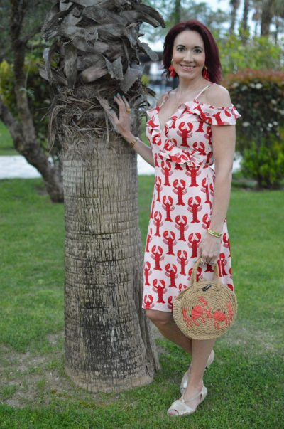 Fabienne Chapot Lobster Print Dress + link up