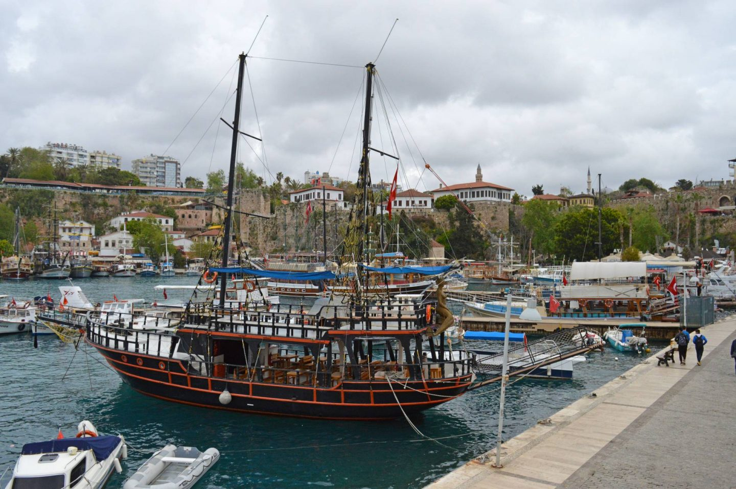 A Day Trip Exploring Antalya, Antalya harbour