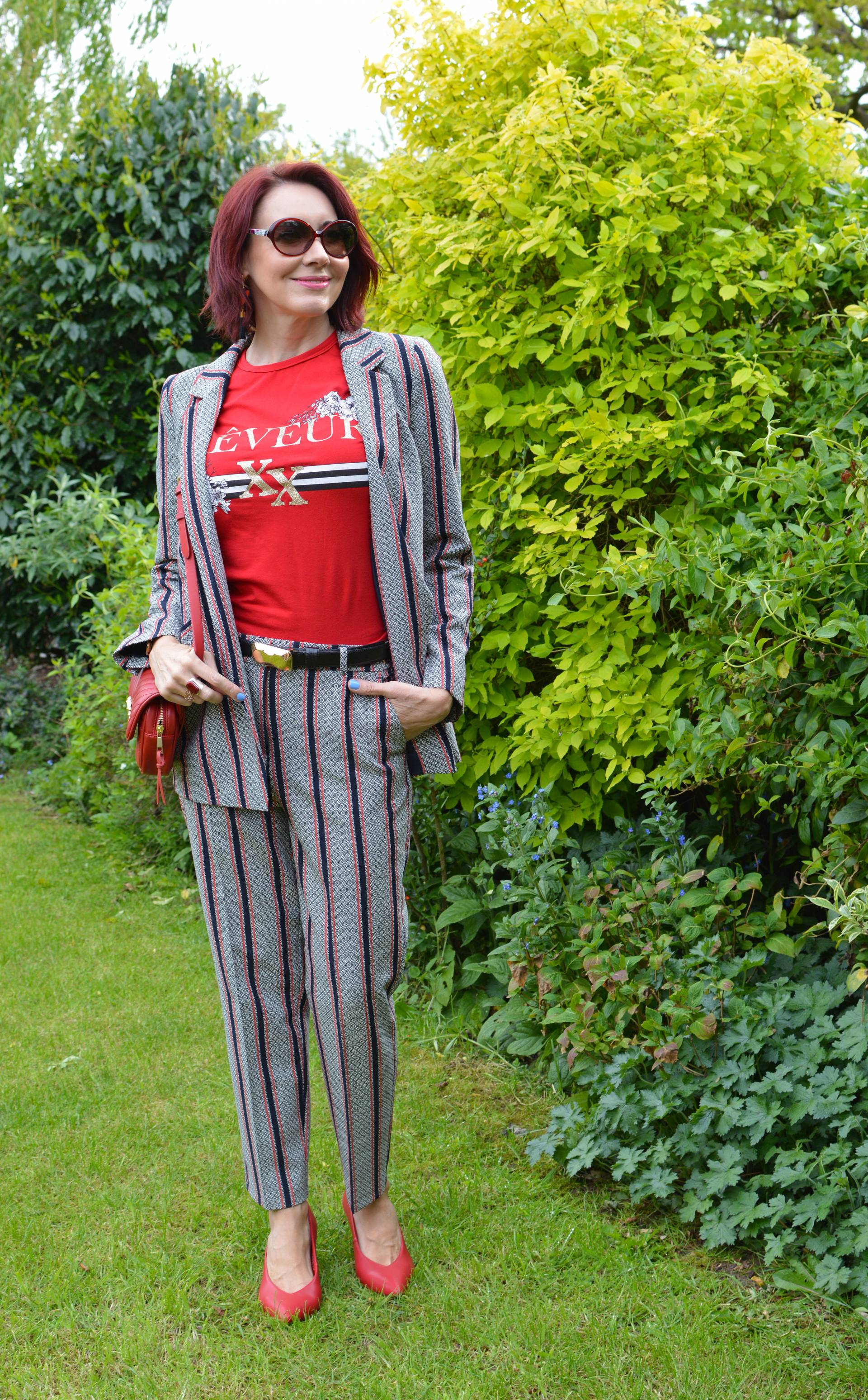 9dfcefa68 Trouser suit and casual T-shirt + Style With a Smile link up