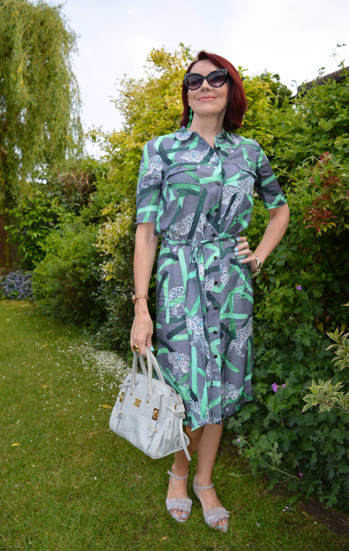 Finery Grey Shirt Dress, Modalu grey bag
