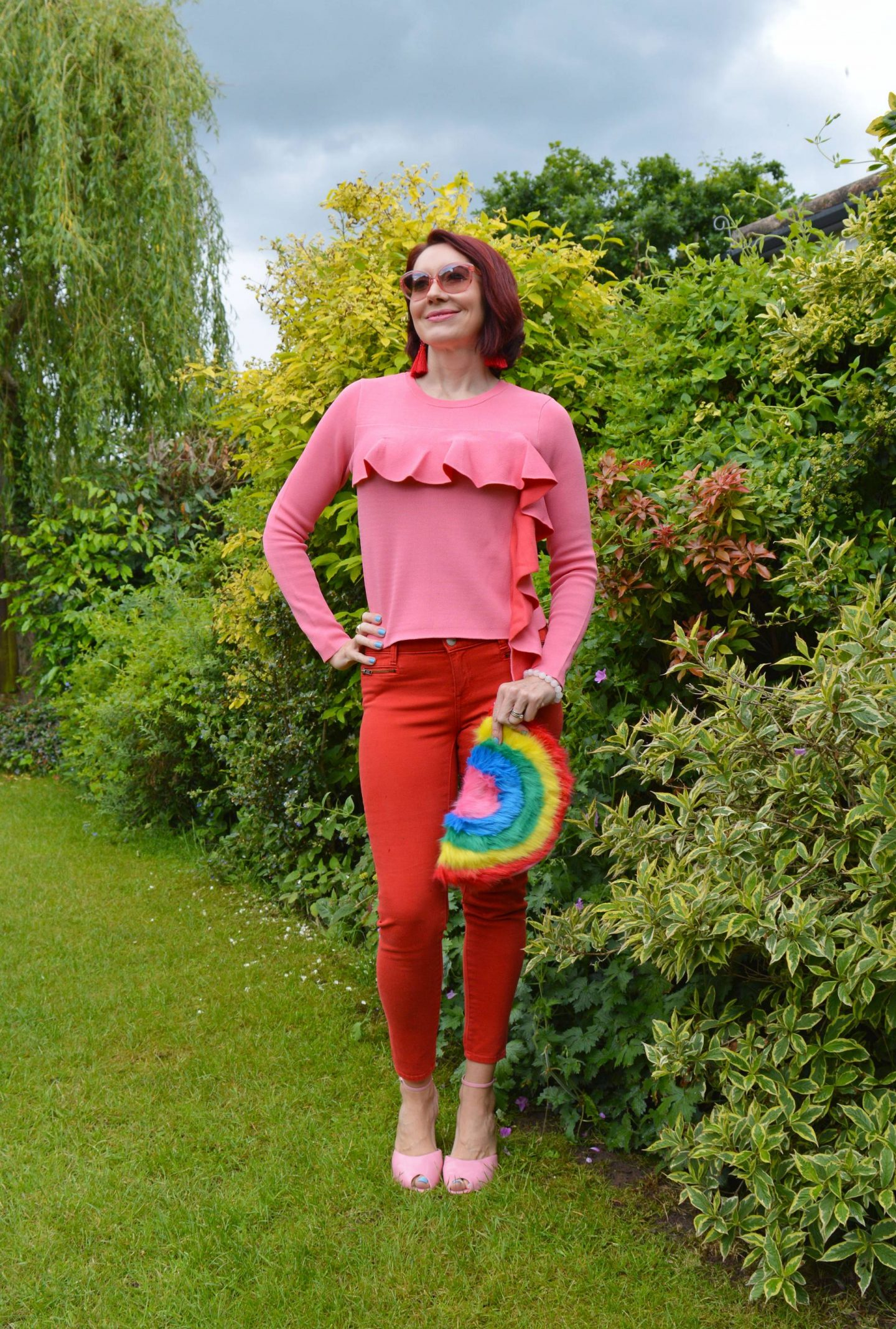Pink Frills, Red Denim and a Rainbow