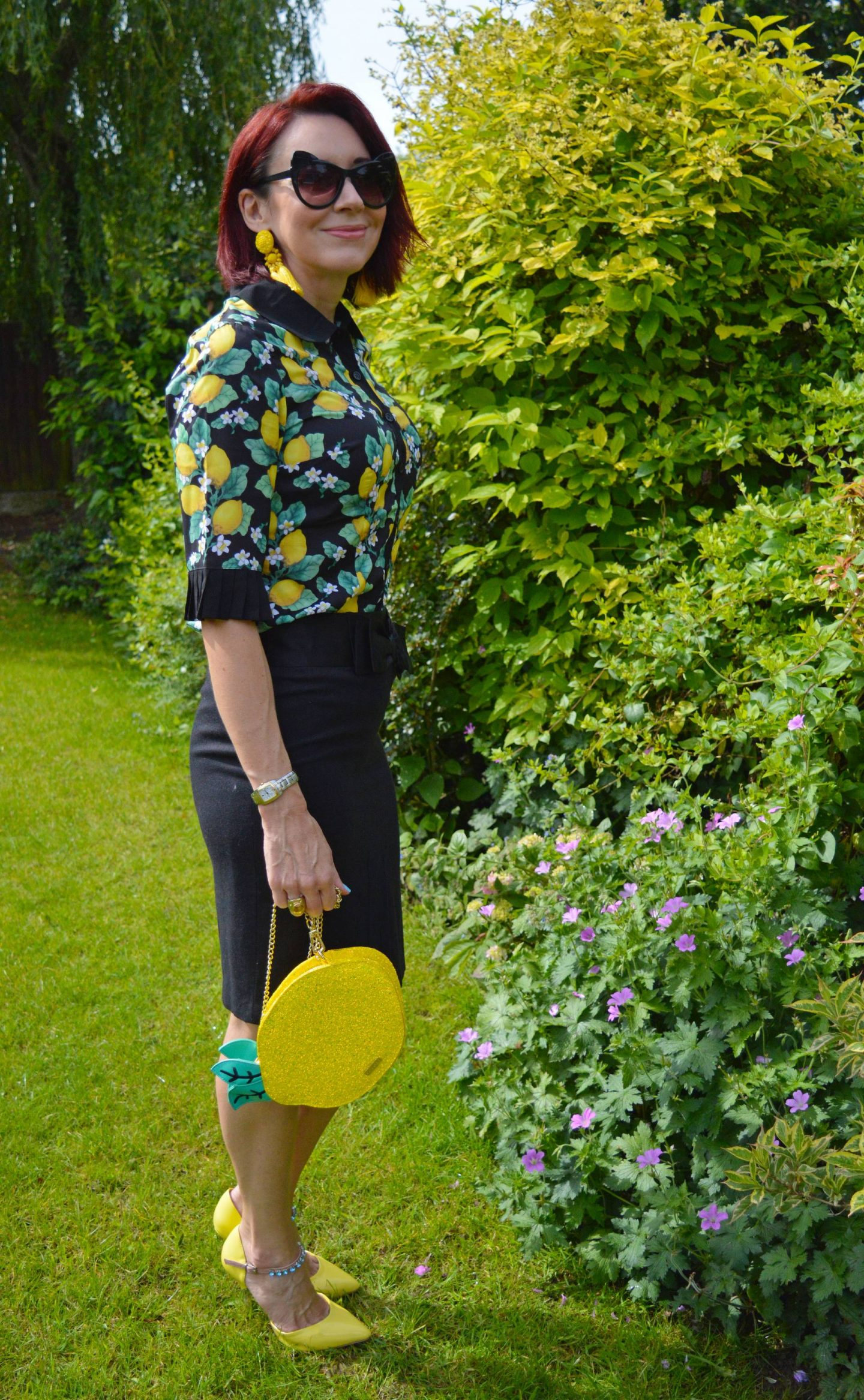 When Life Gives You Lemons, Hell Bunny lemon print shirt, Skinny Dip lemon bag