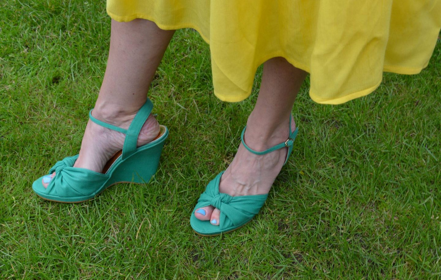 Dorothy Perkins green wedge sandals