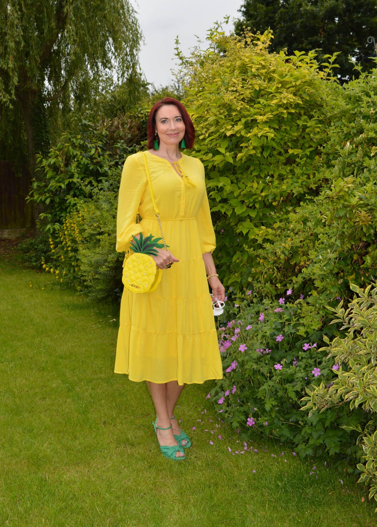 Match Made in Seven, Marks and Spencer yellow dress
