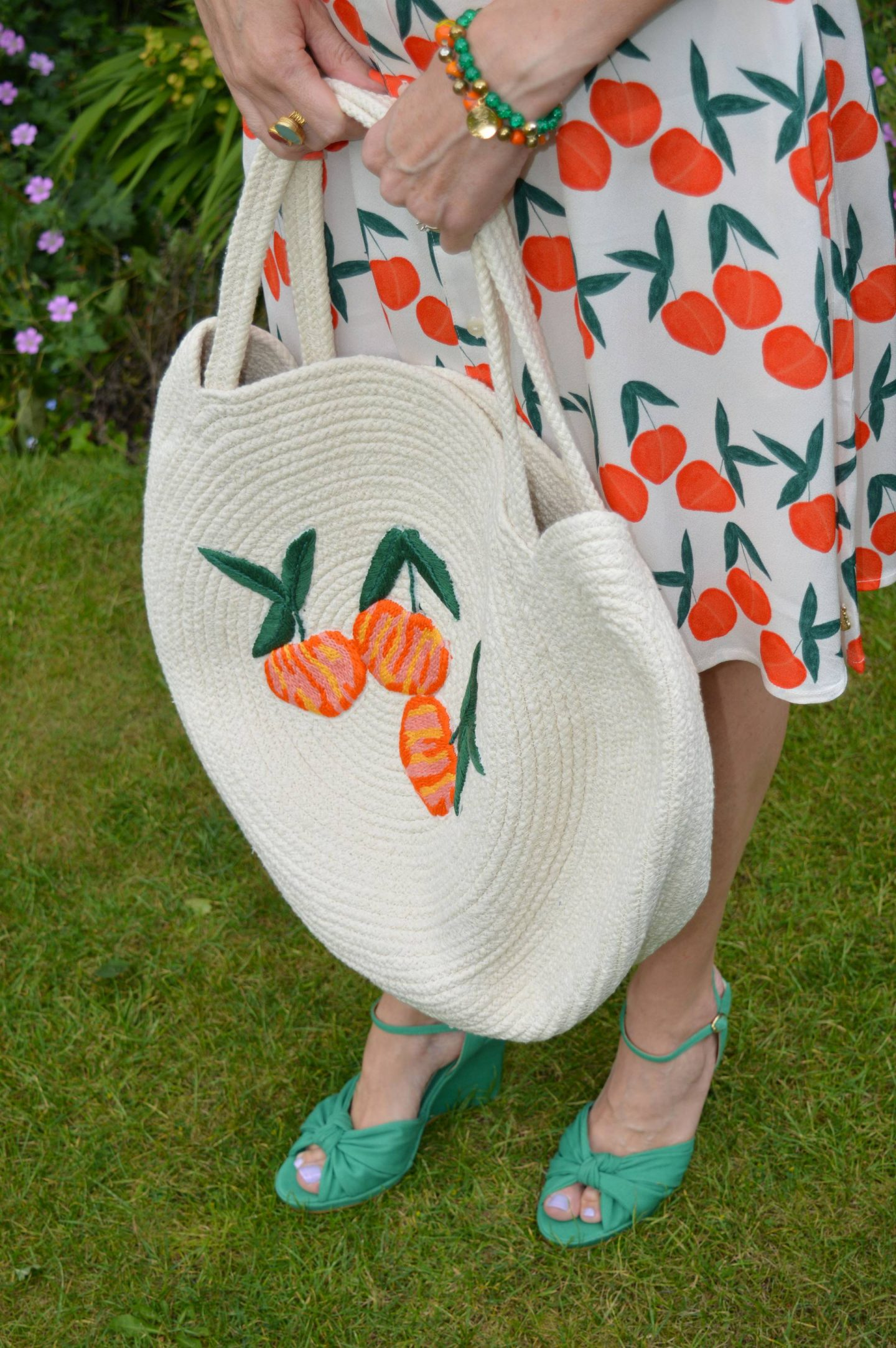 Fabienne Chapot Feeling Peachy Dress and Sunny Bag