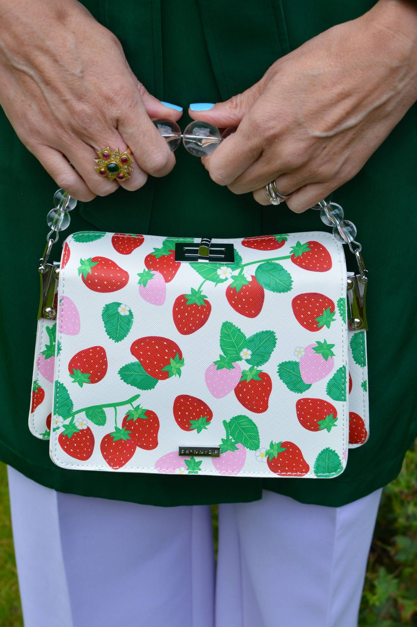 Skinny Dip strawberry print bag