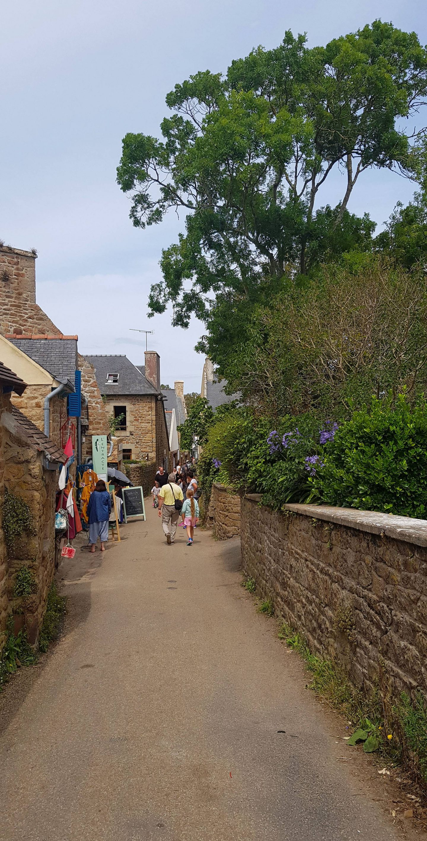 Summer Trip to Brittany, street on Île-de-Bréhat