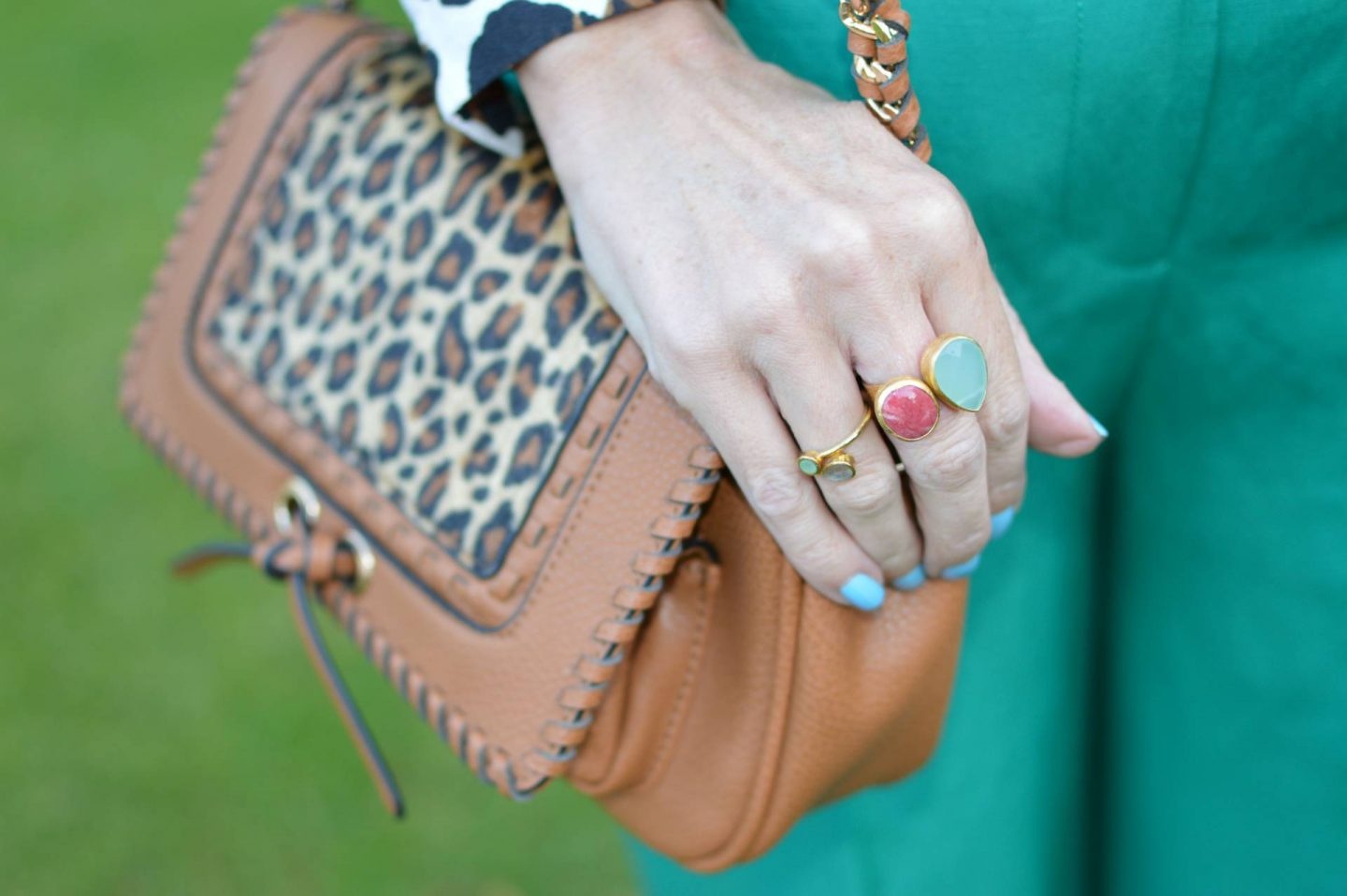 Scottage leopard printbag, Ottoman Hands double stone ring
