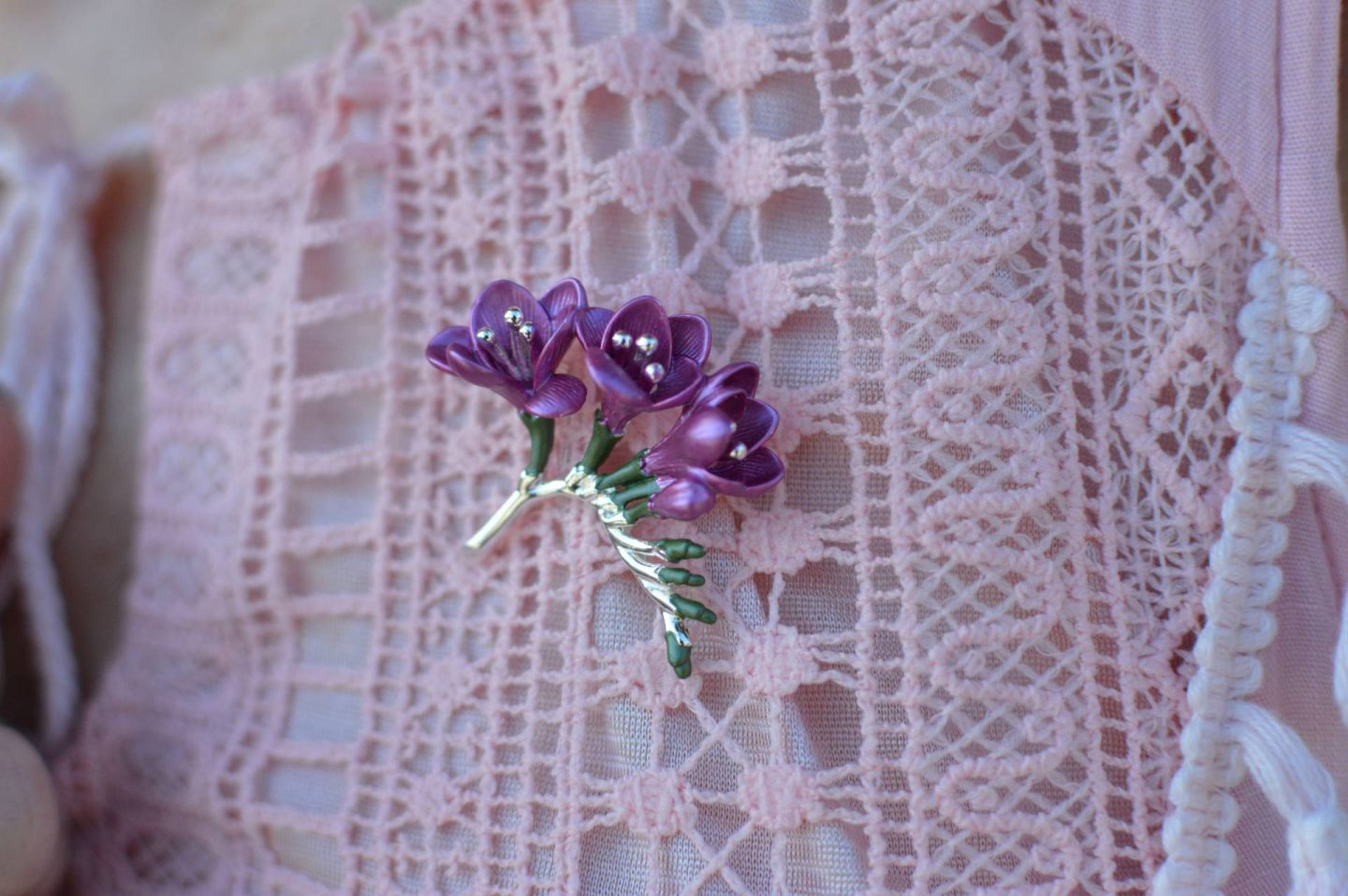 Eternal Collection freesia brooch