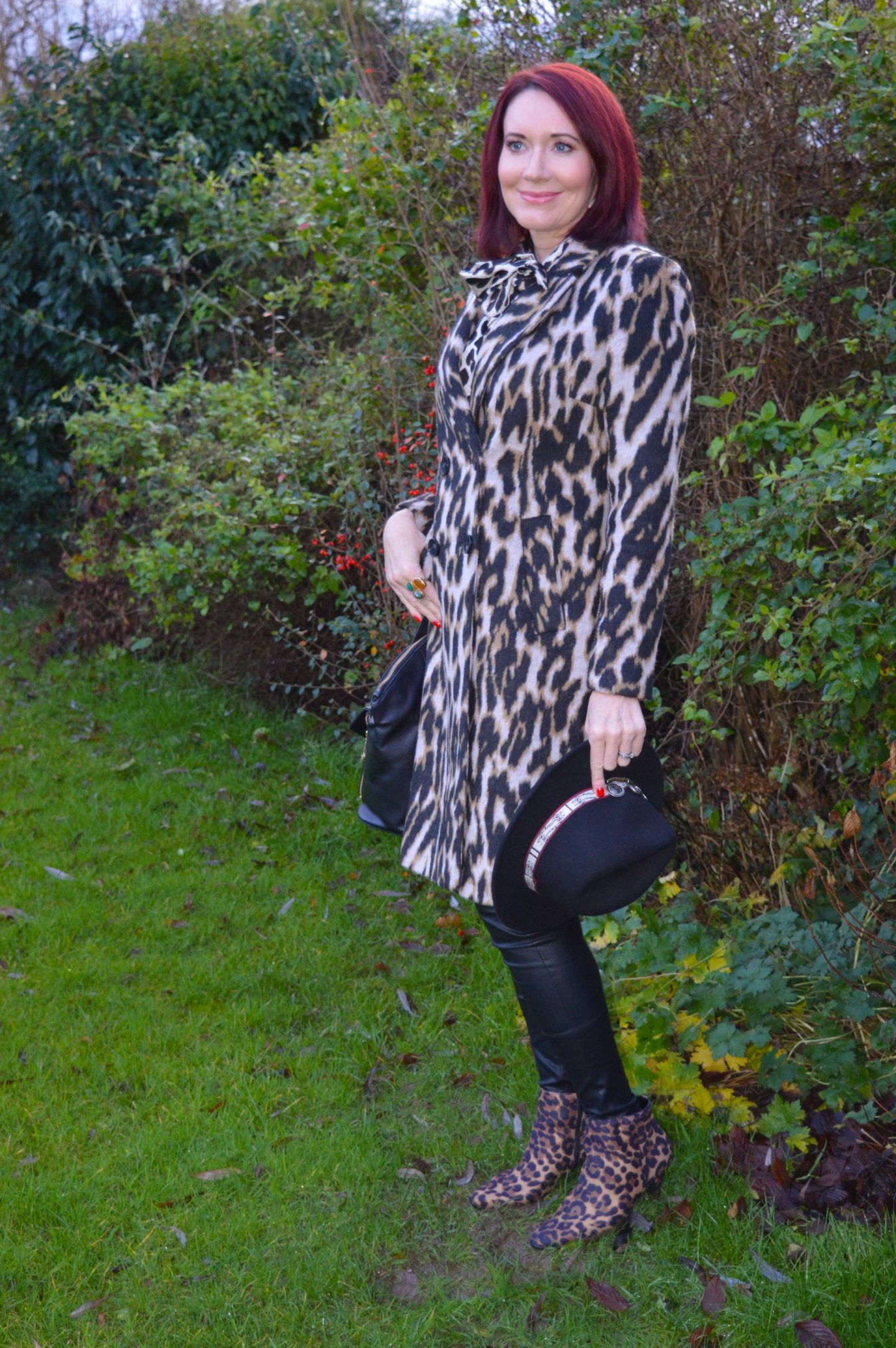 Leopard Print and Faux Leather